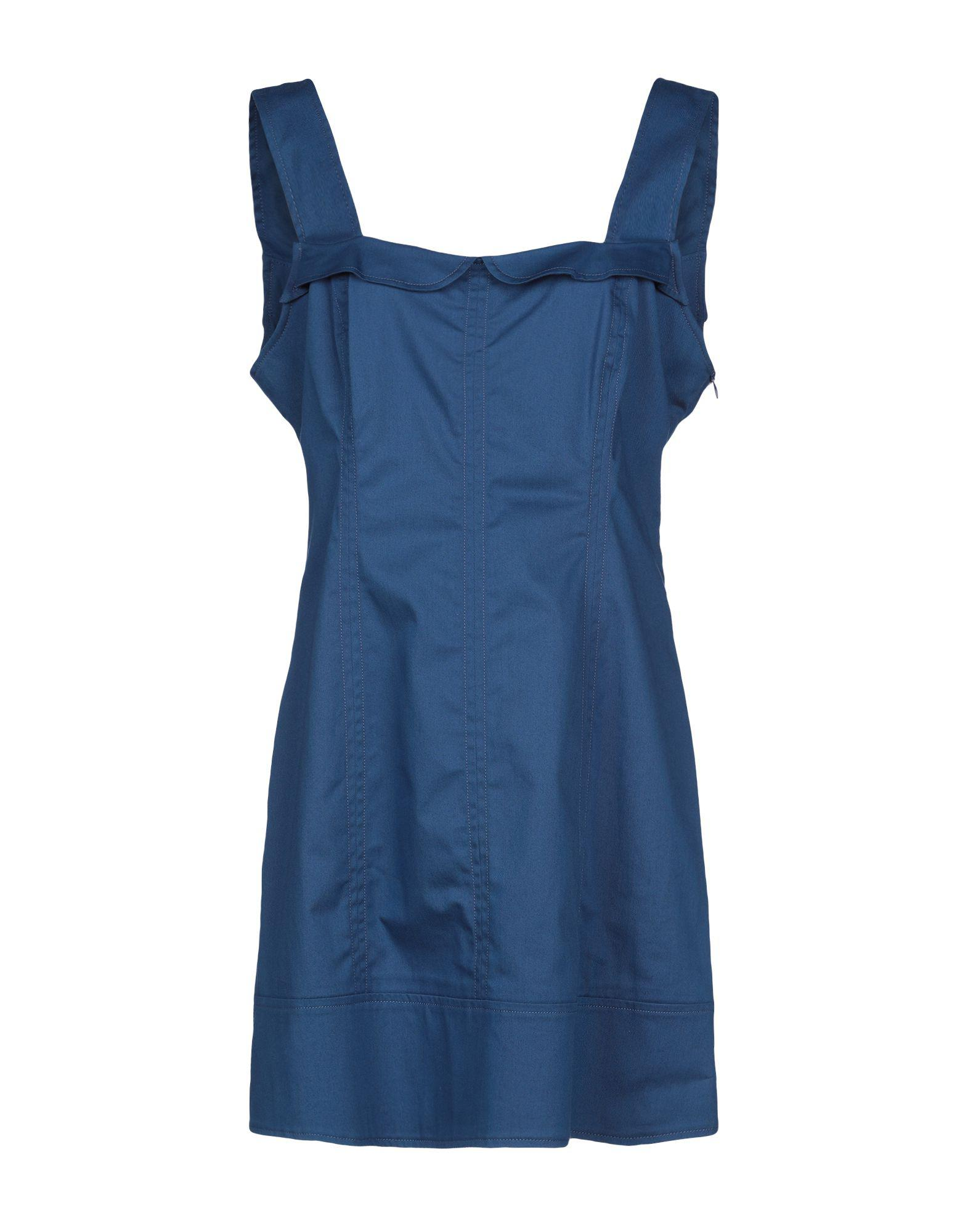 Lyst - Rocco Barocco Short Dress in Blue a78f937263d