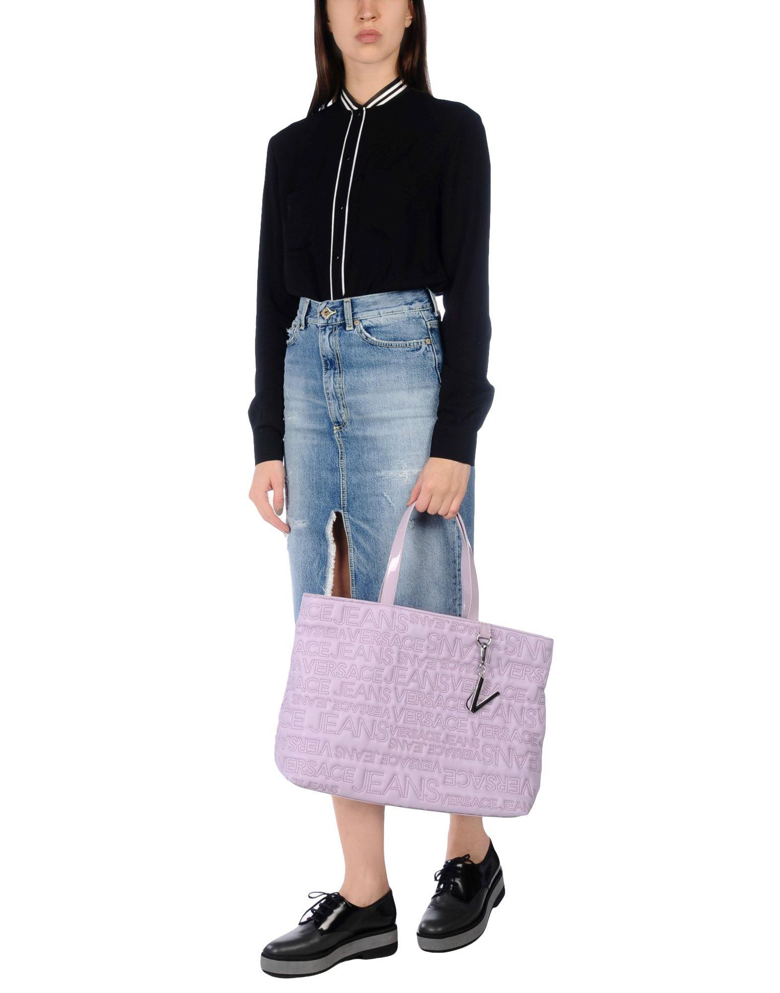 Versace Jeans Handbag in Purple - Lyst 90825f1326