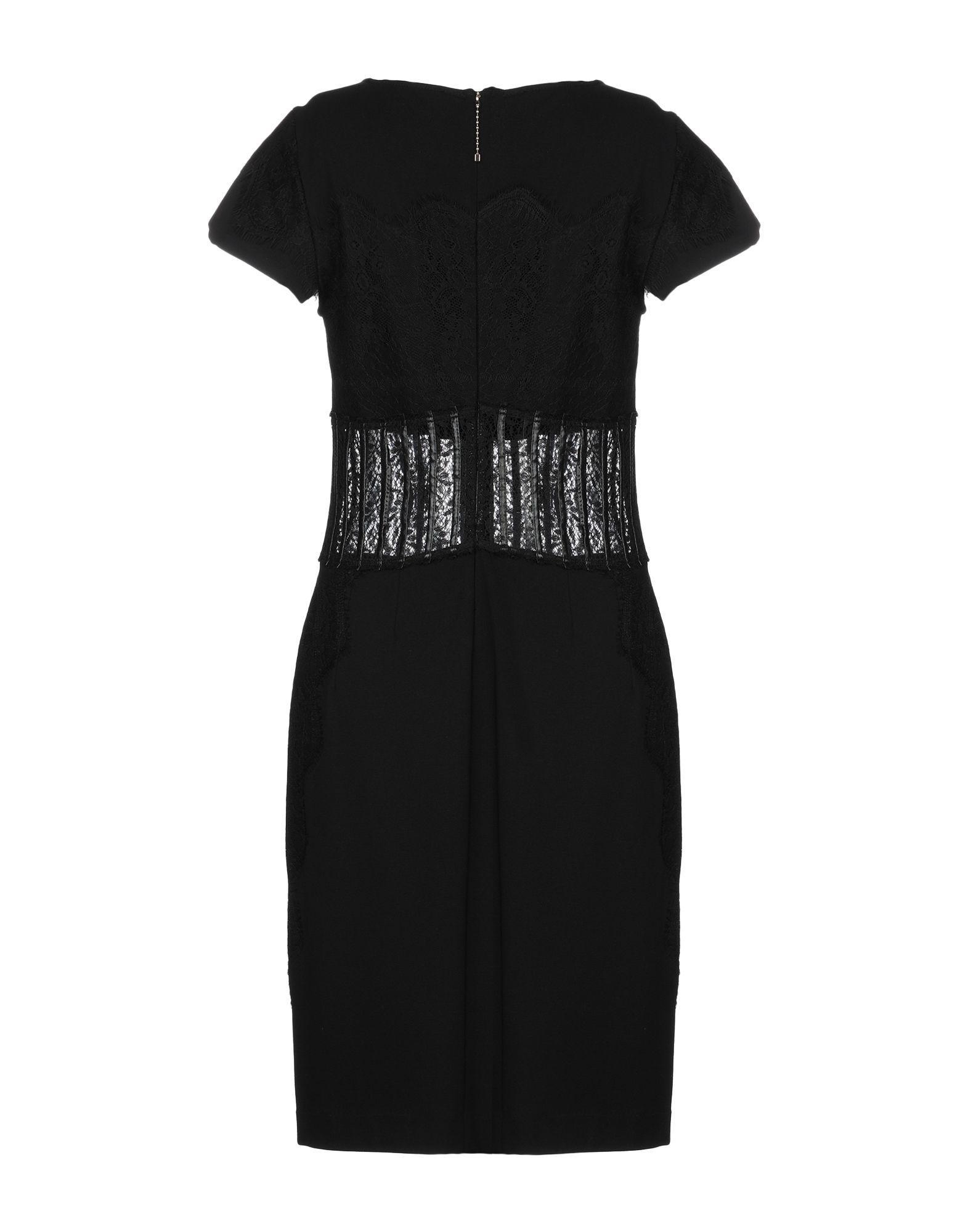 54aaa5bb324941 Lyst - Sonia Fortuna Knee-length Dress in Black