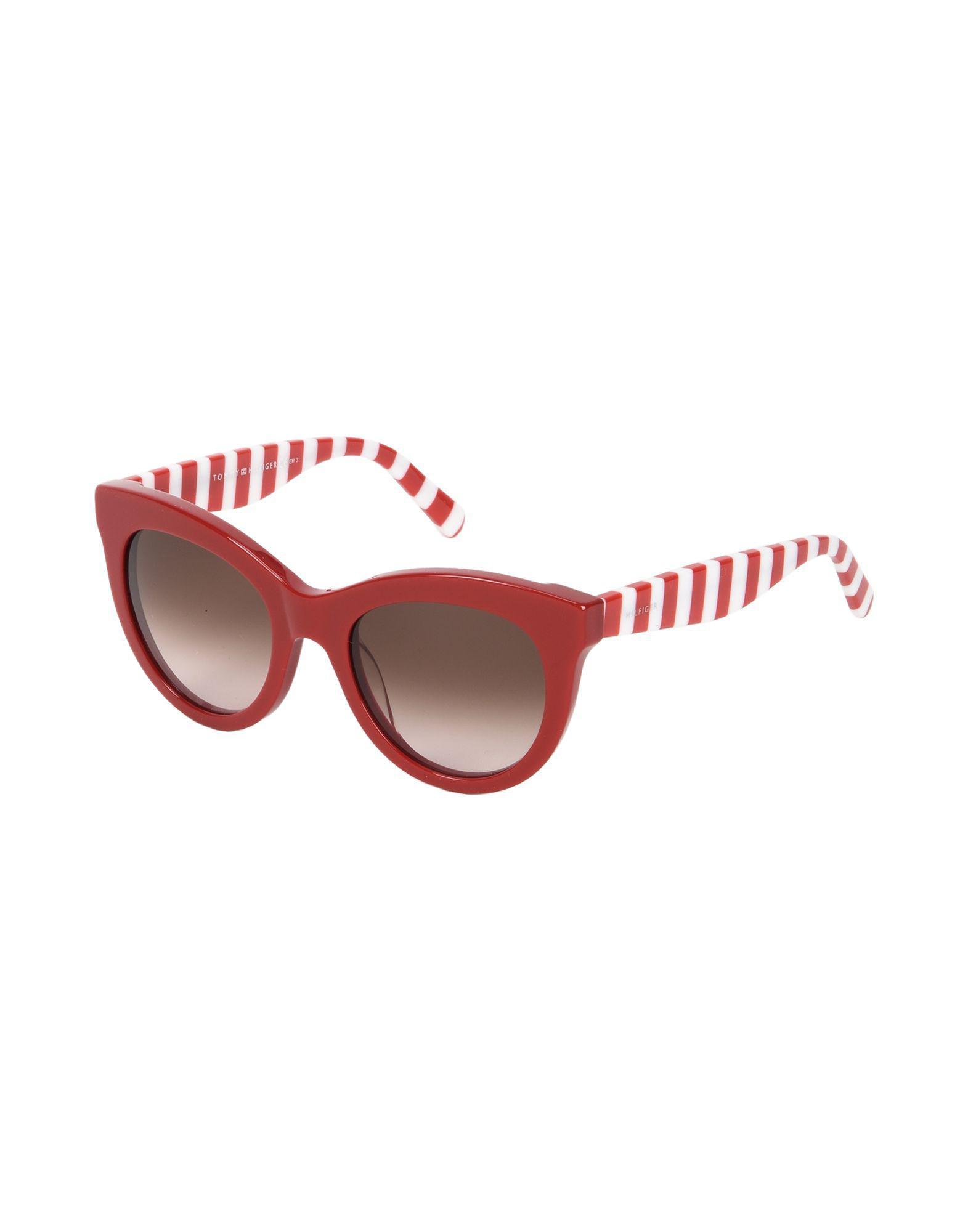 fee3d6f46926d8 Lyst - Lunettes de soleil Tommy Hilfiger en coloris Rouge