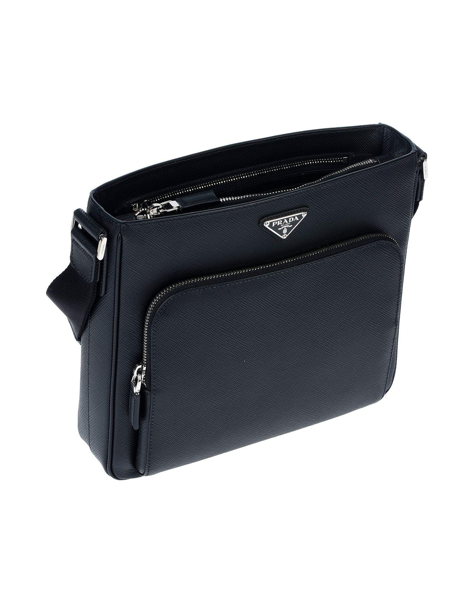 3184e1283149 Prada Cross-body Bag in Black for Men - Lyst