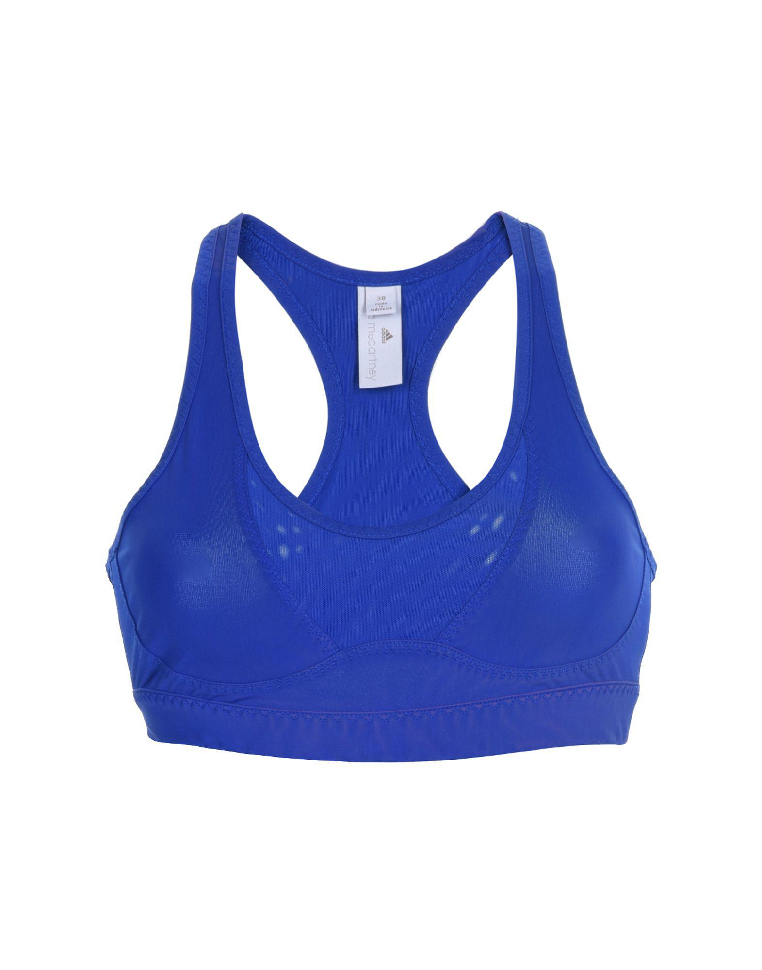 ffc30db347c98 Lyst - Adidas By Stella Mccartney Bras in Blue
