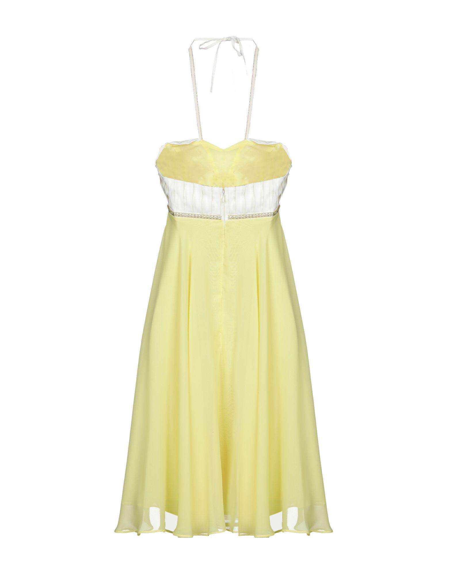 Lyst - Rocco Barocco Short Dress in Yellow bd36f6bc9ff