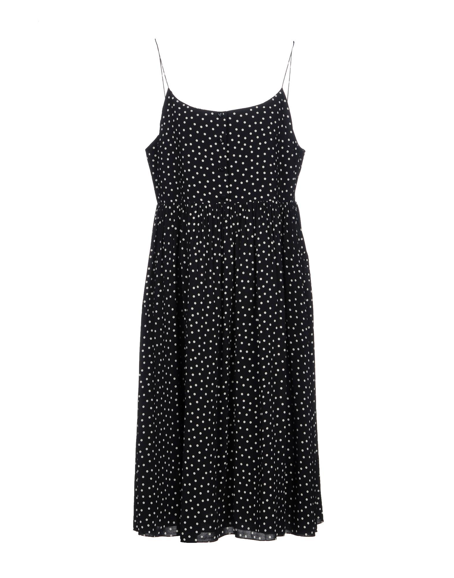 97b25e089ab Lyst - Saint Laurent Knee-length Dress in Black
