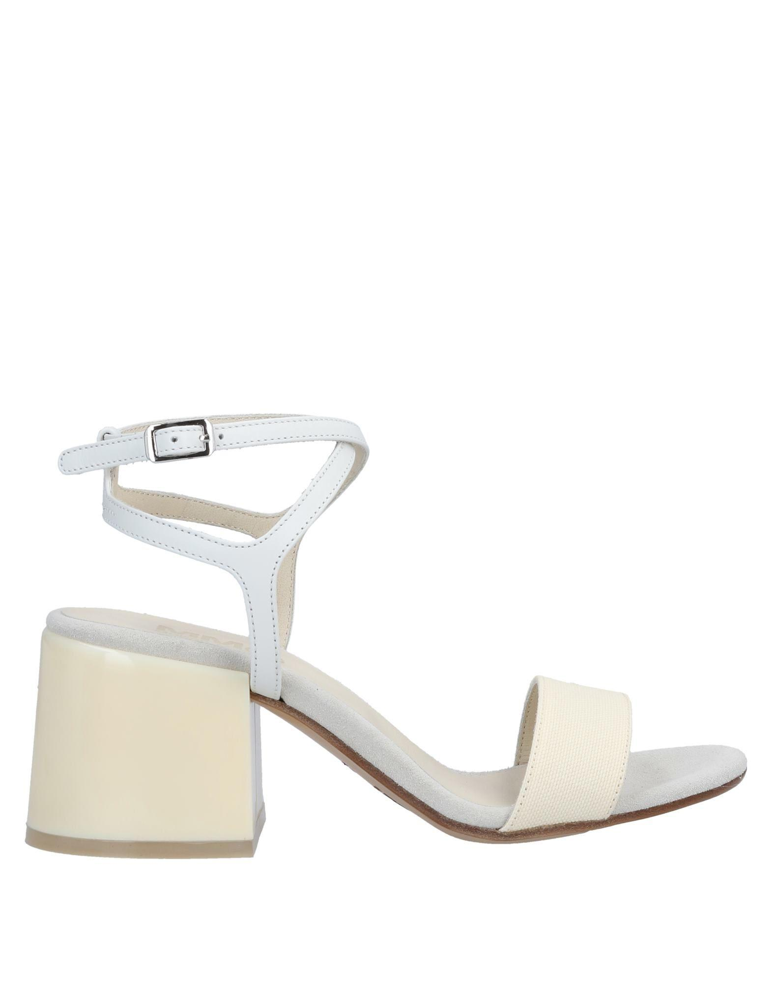 0a5638366e79 MM6 by Maison Martin Margiela Sandals in White - Lyst