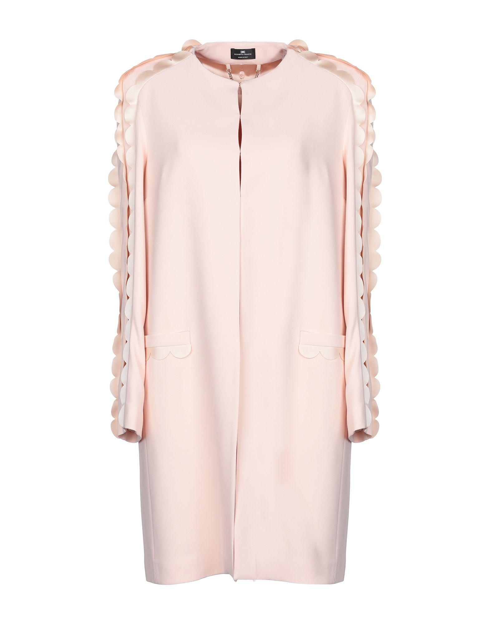 Elisabetta Franchi Coat in Pink - Lyst a6f8d4db8