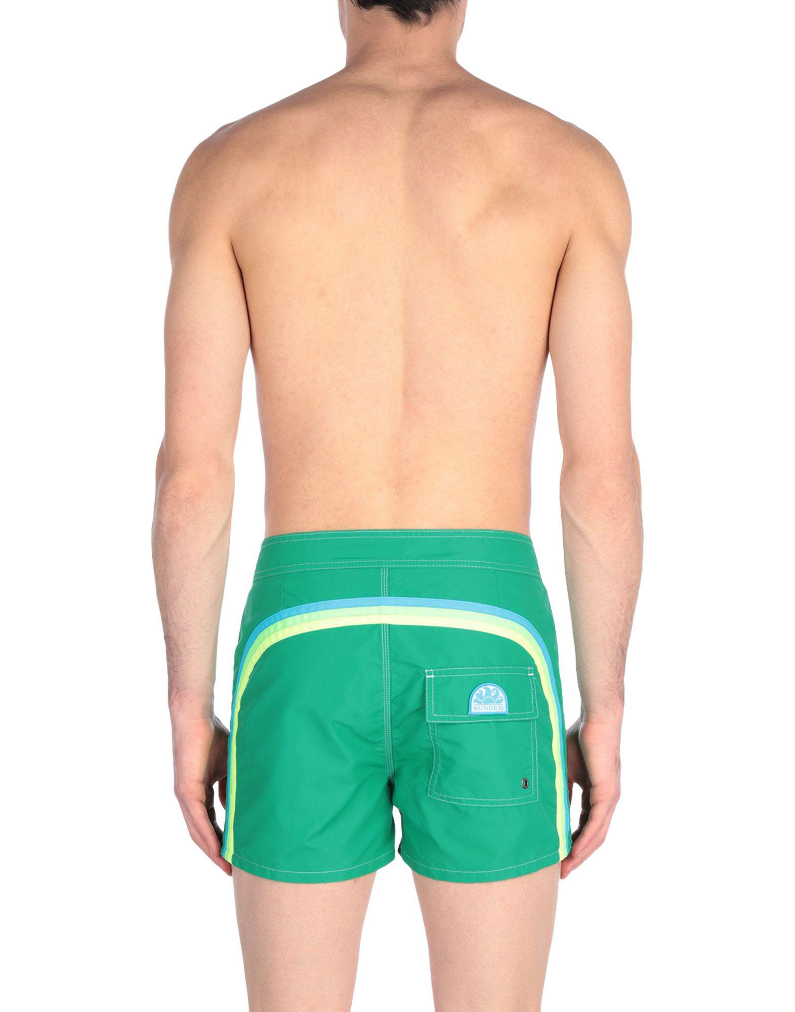 4dcd353370 Sundek Swimming Trunks in Green for Men - Lyst