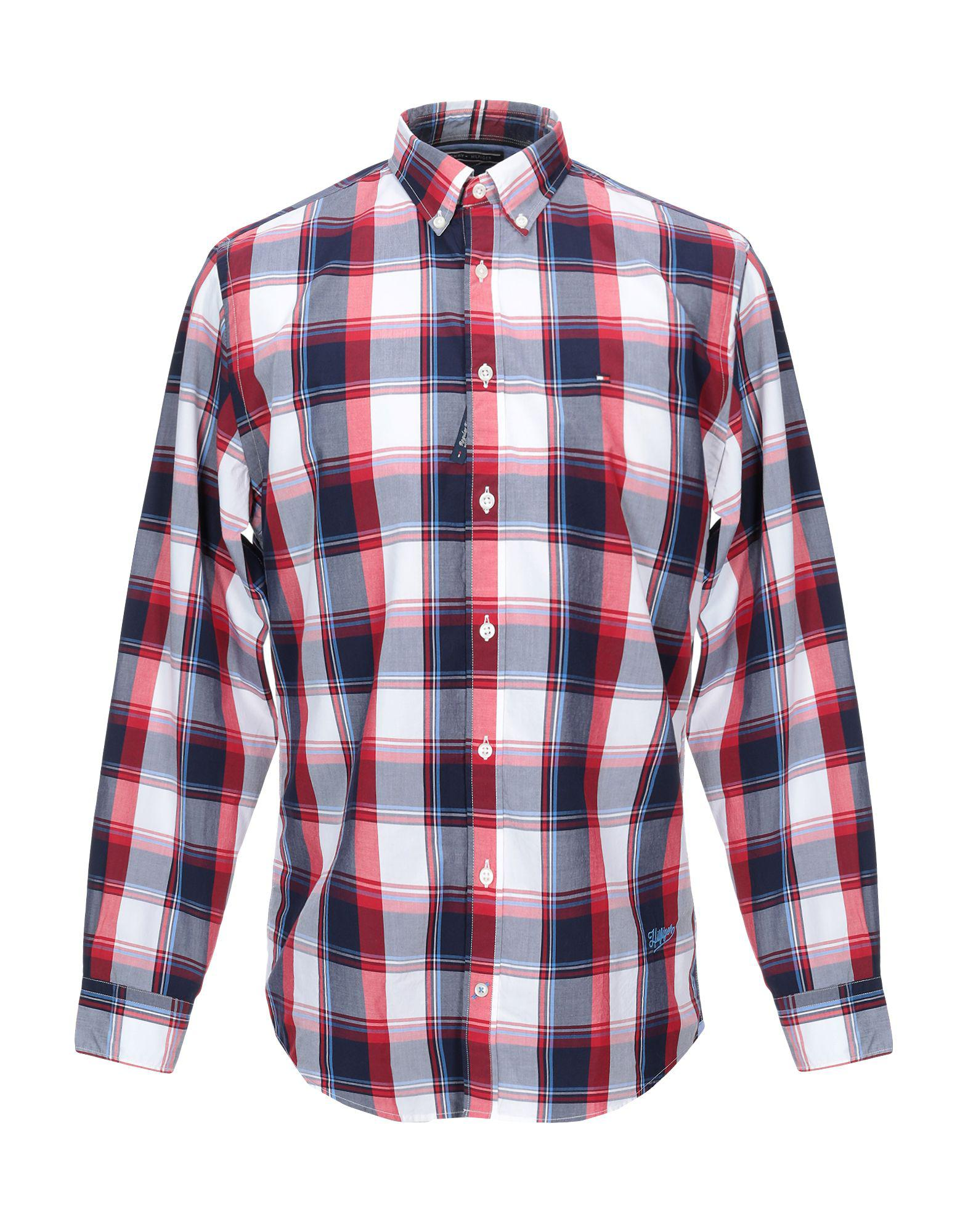 390f802060a1 Lyst - Tommy Hilfiger Shirt in Red for Men