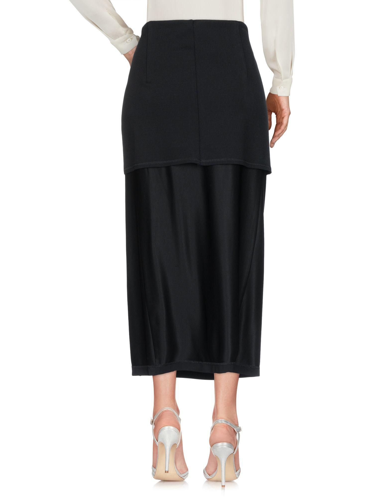 37e3a9e42b Lyst - DKNY Long Skirt in Black
