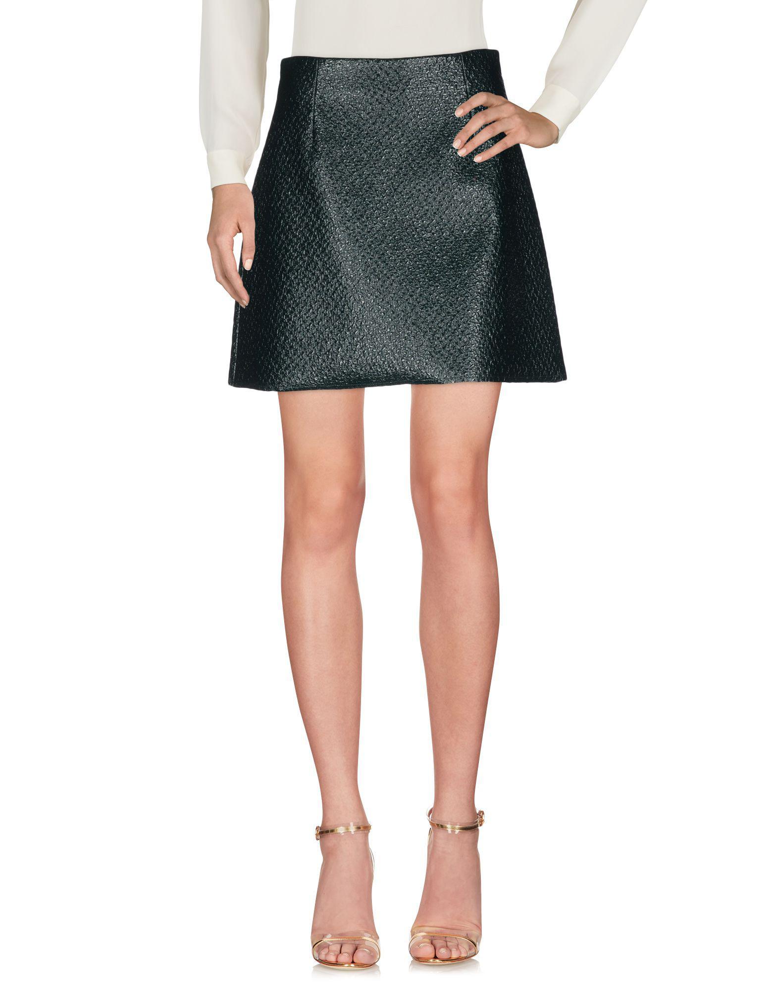 79717f3c87 Lyst - Pinko Knee Length Skirt in Green