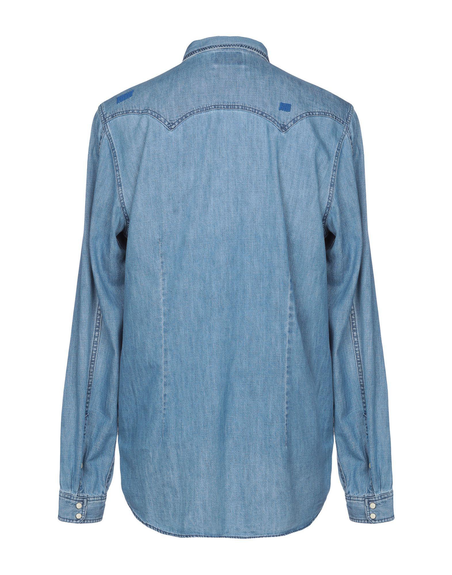 142afd61802 Lyst - Chemise en jean Scotch   Soda pour homme en coloris Bleu