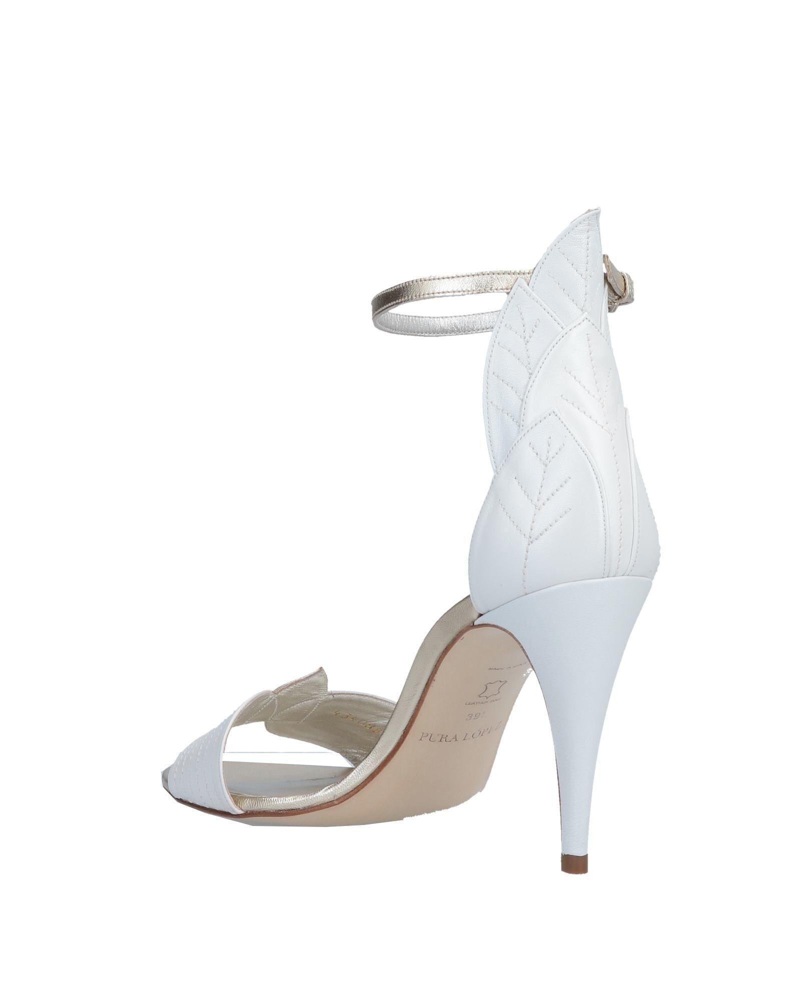 d38df59295c Pura Lopez Sandals in White - Lyst