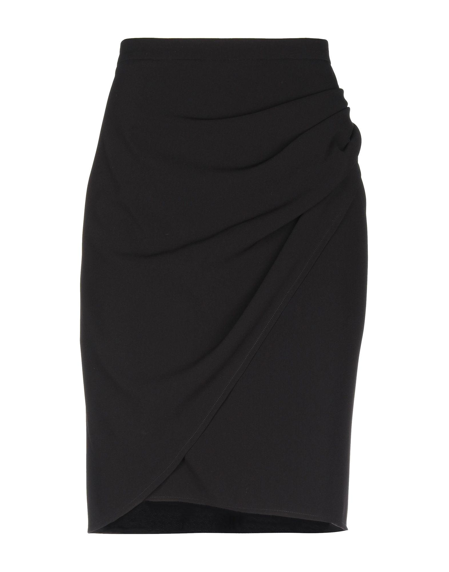 568fdd58cf Boutique Moschino Knee Length Skirt in Black - Lyst