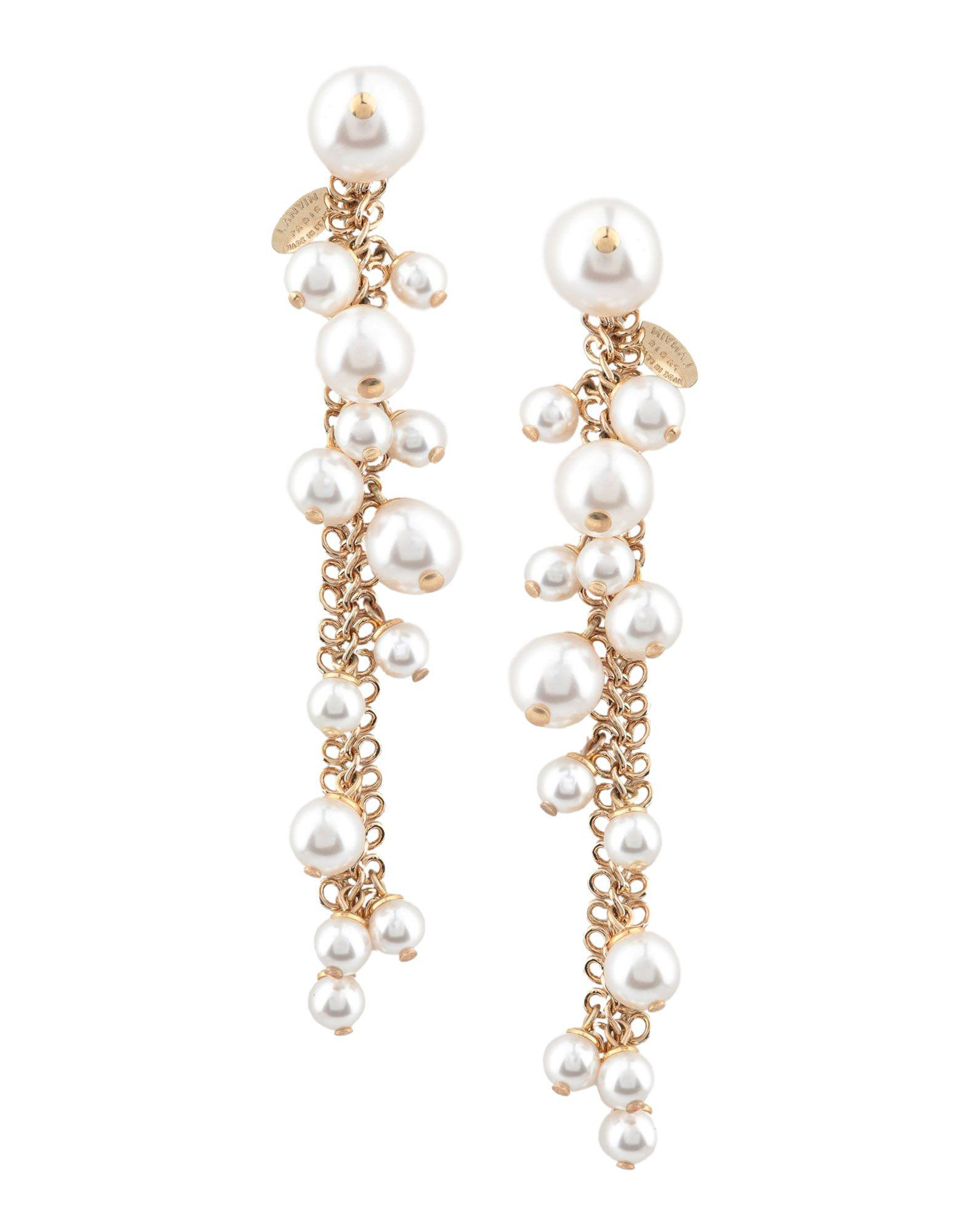 Lanvin Women S White Earrings