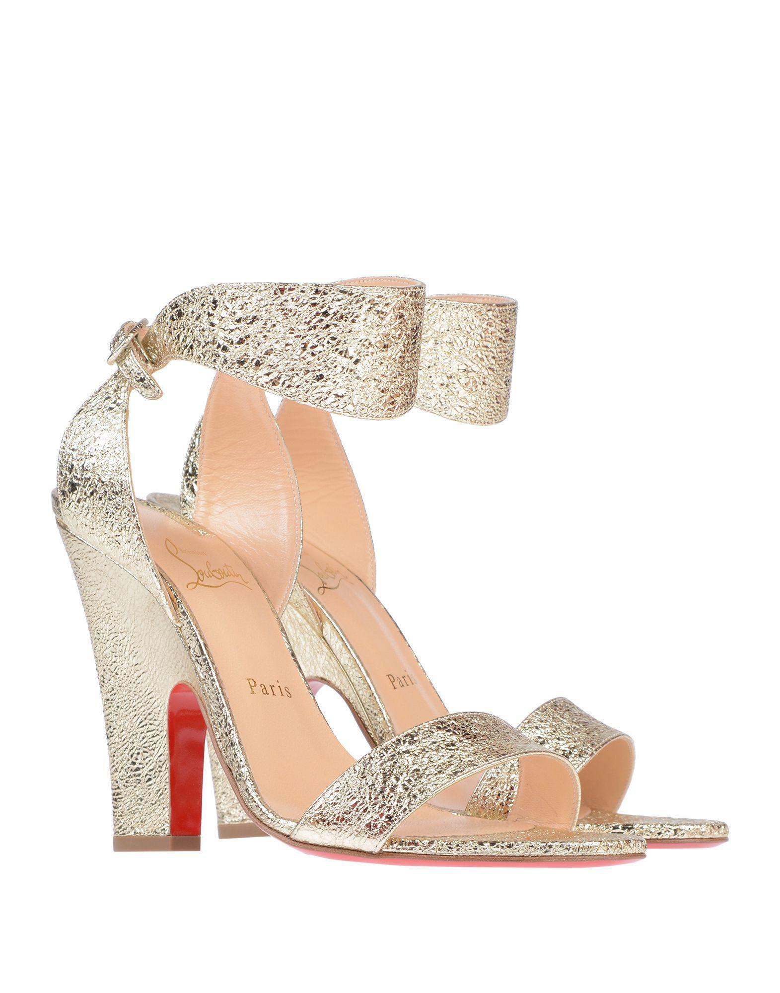 e3ad8c90ec0 Lyst - Christian Louboutin Sandals in Metallic
