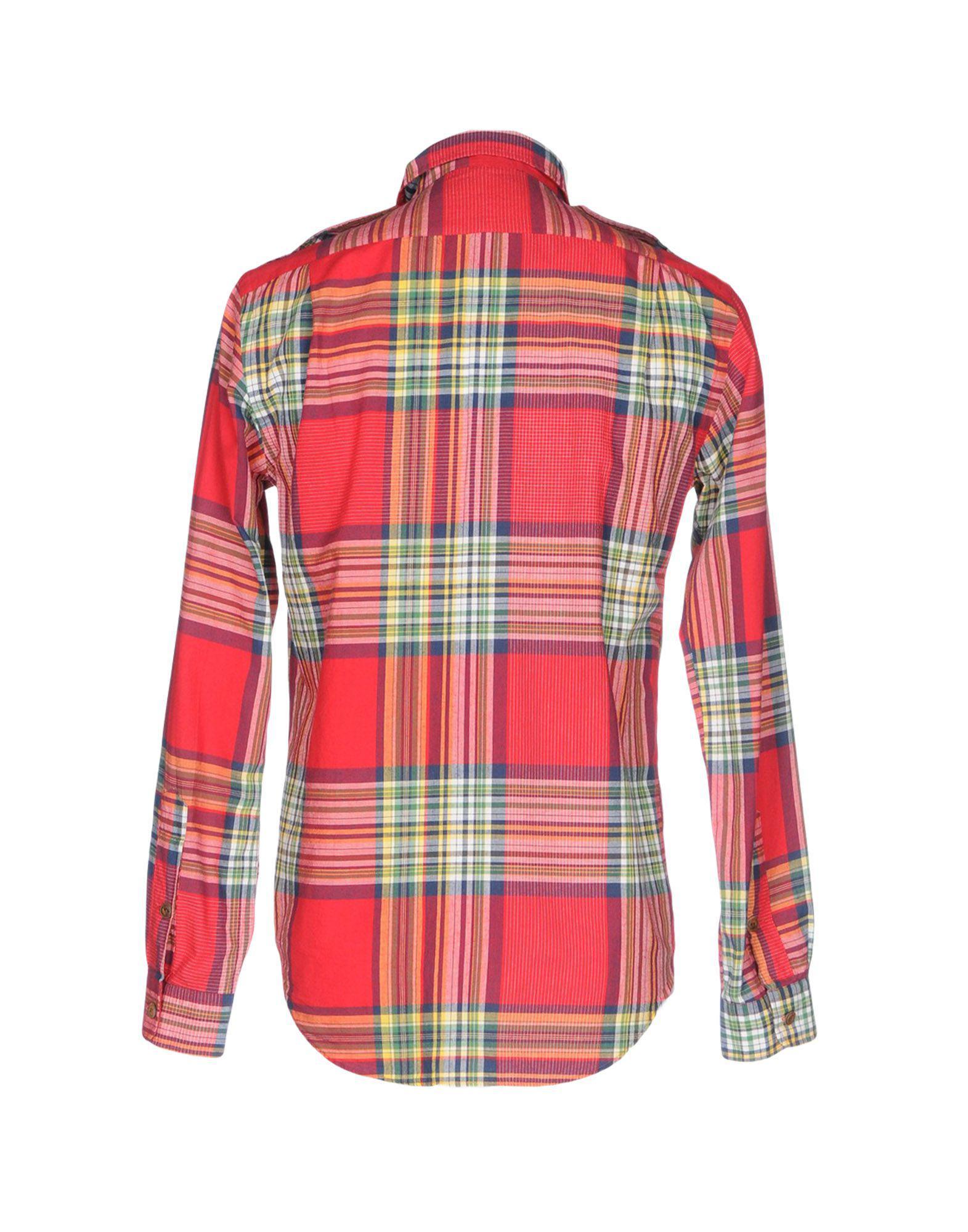 3a95afd3df17b Lyst - Chemise Polo Ralph Lauren pour homme en coloris Rouge