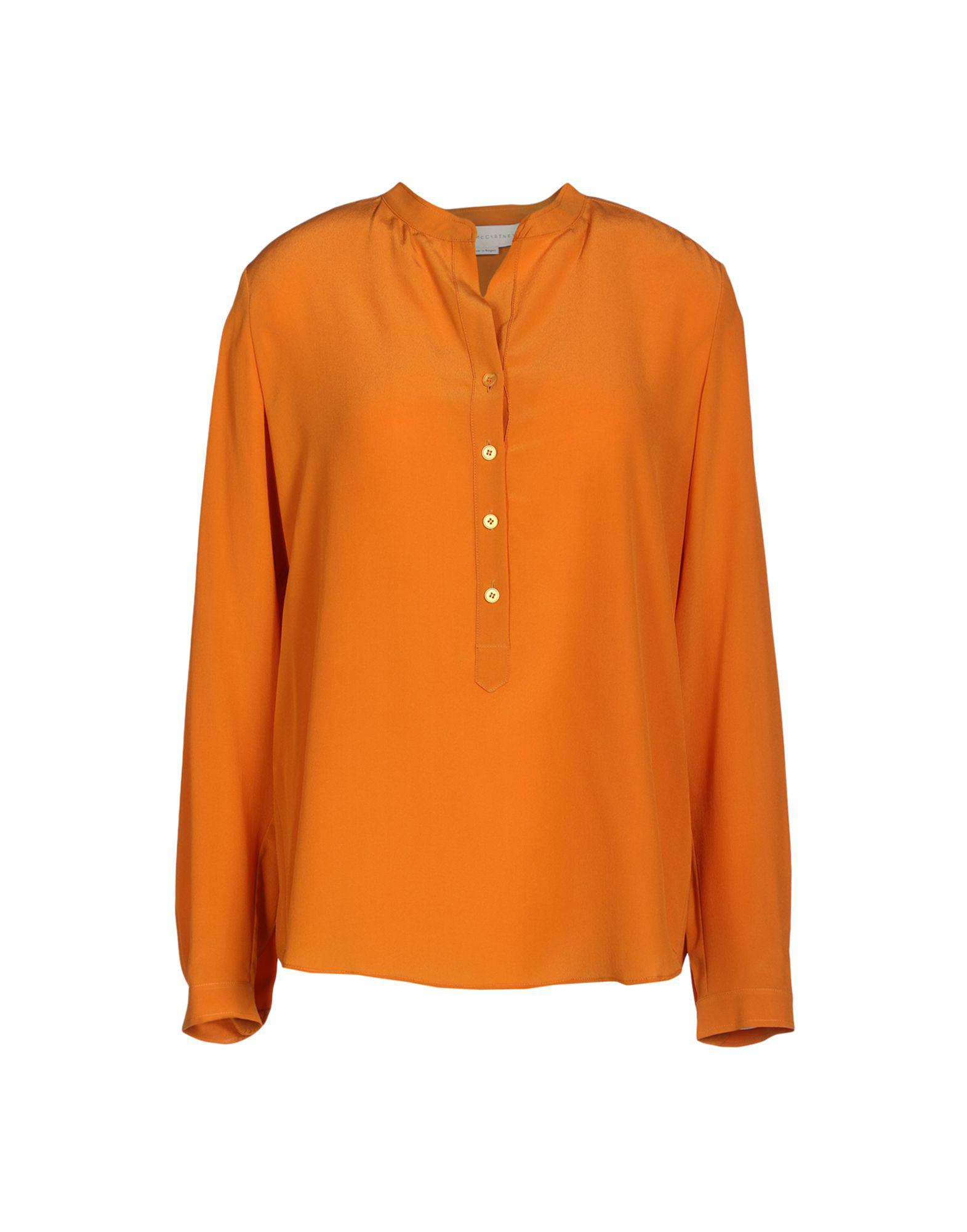 2b402d5671eda Lyst - Stella Mccartney Blouse in Orange