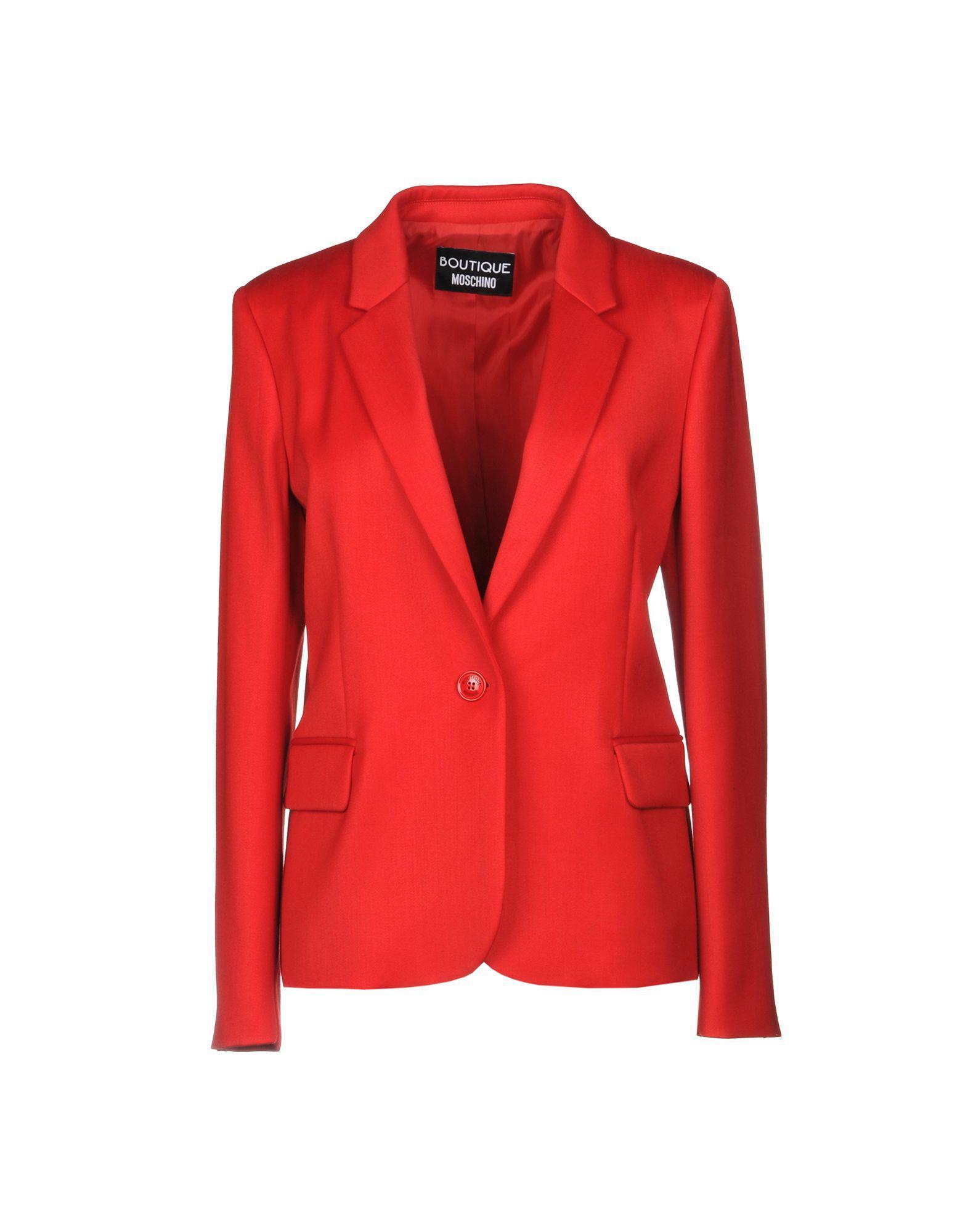 7214588331 Boutique Moschino Blazer in Red - Lyst