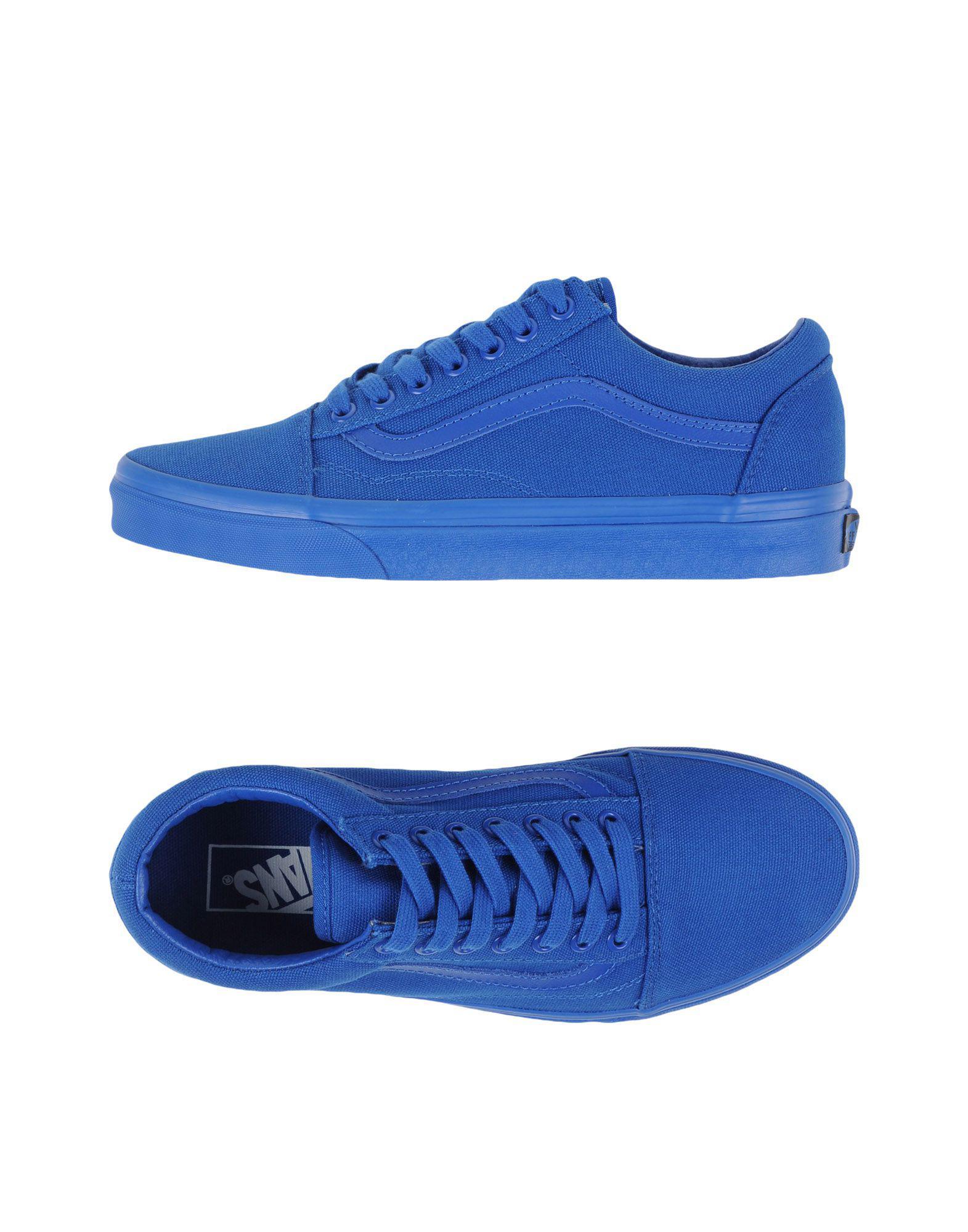 Vans. Men's Blue Low-tops & Sneakers
