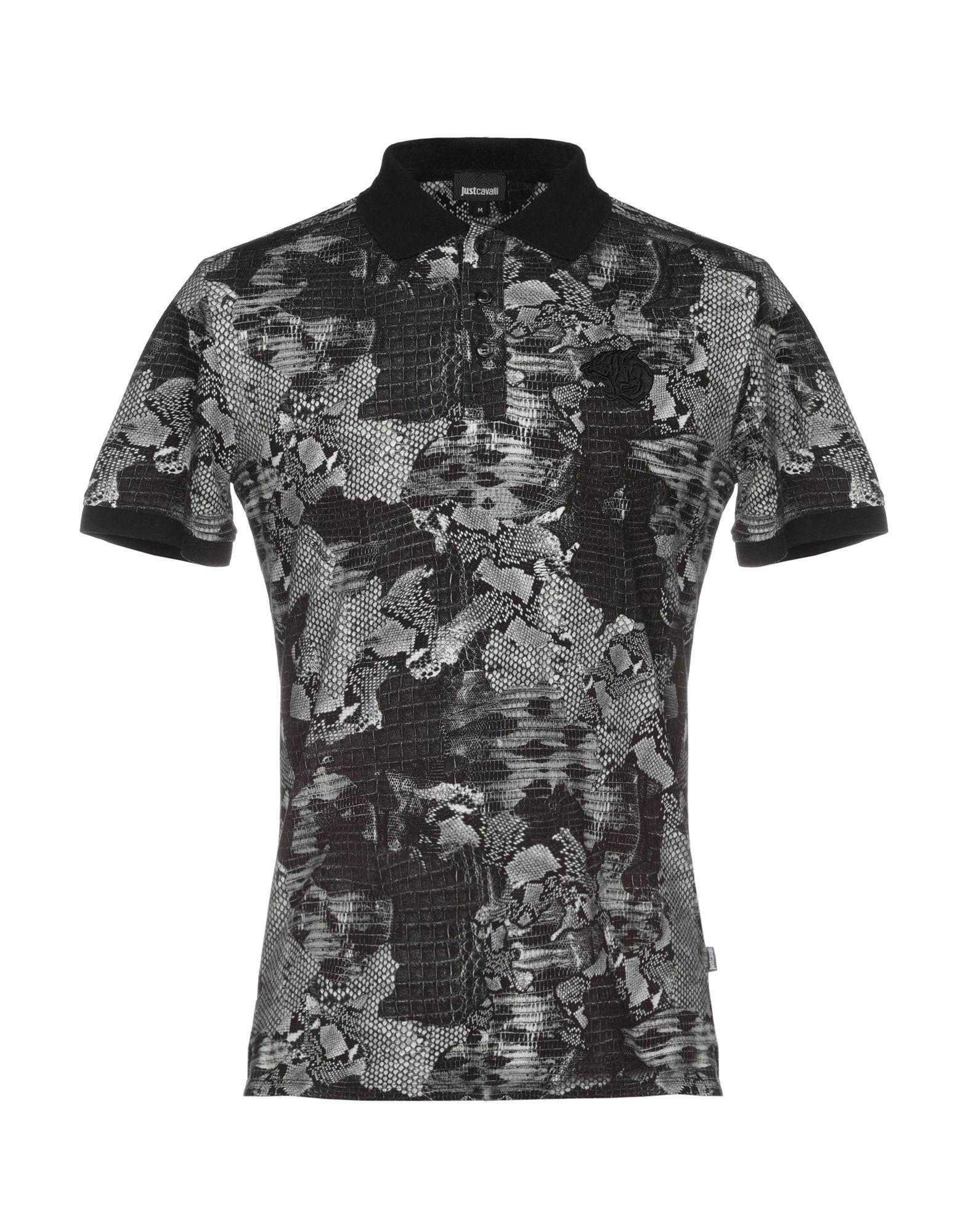 ca9d0fc4f Just Cavalli Polo Shirt in Black for Men - Lyst
