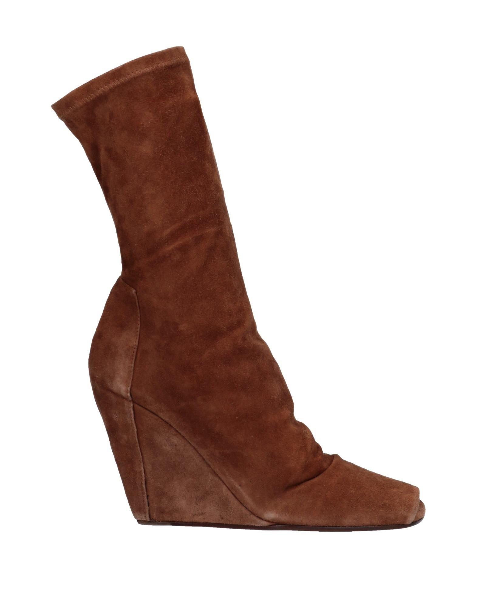 a6ed67ecf17 Lyst - Rick Owens Ankle Boots in Brown
