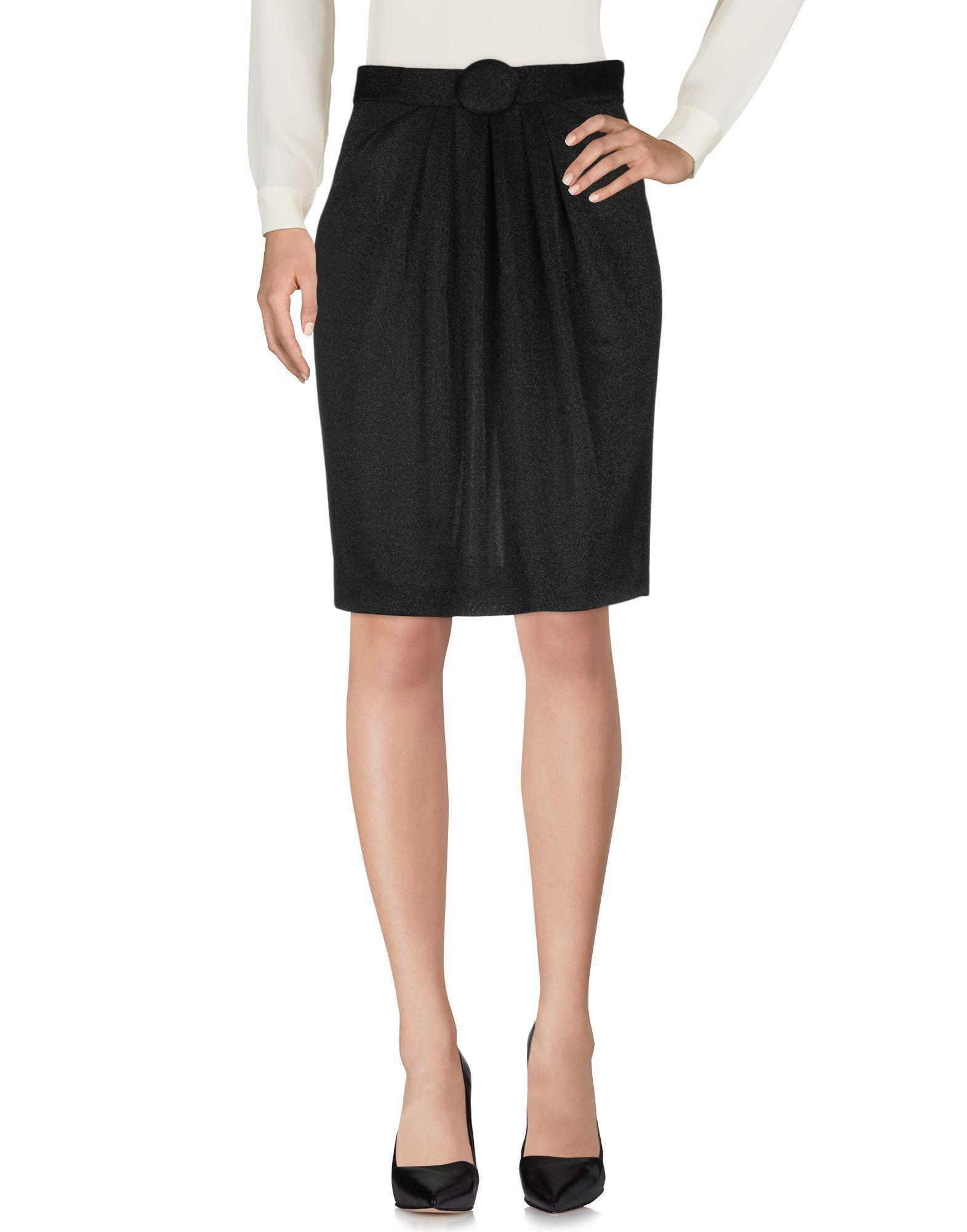 23c55478cf Lyst - Boutique Moschino Knee Length Skirt in Black
