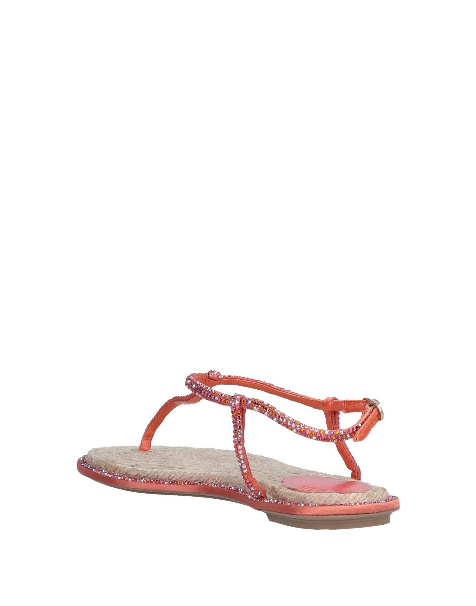 8e678eb808258 Lyst - Rene Caovilla Toe Post Sandal in Orange