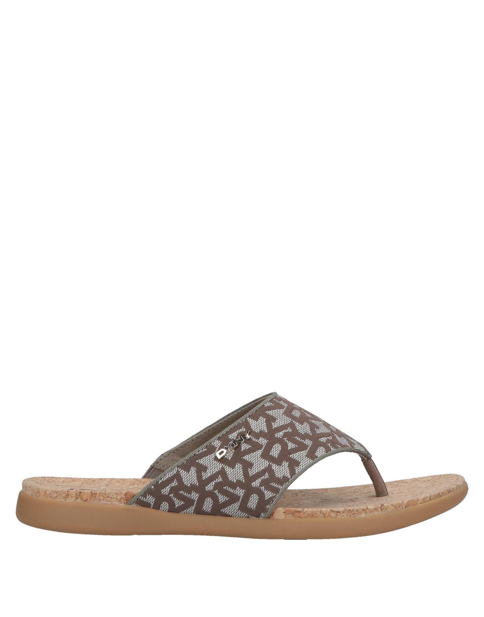 c8182093b2b Lyst - DKNY Toe Strap Sandal in Natural