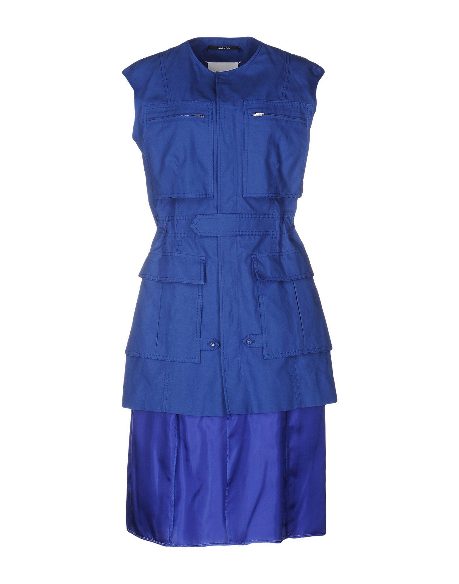 Aux Bleu Maison Genoux En Lyst Margiela Coloris Robe thQdCrs