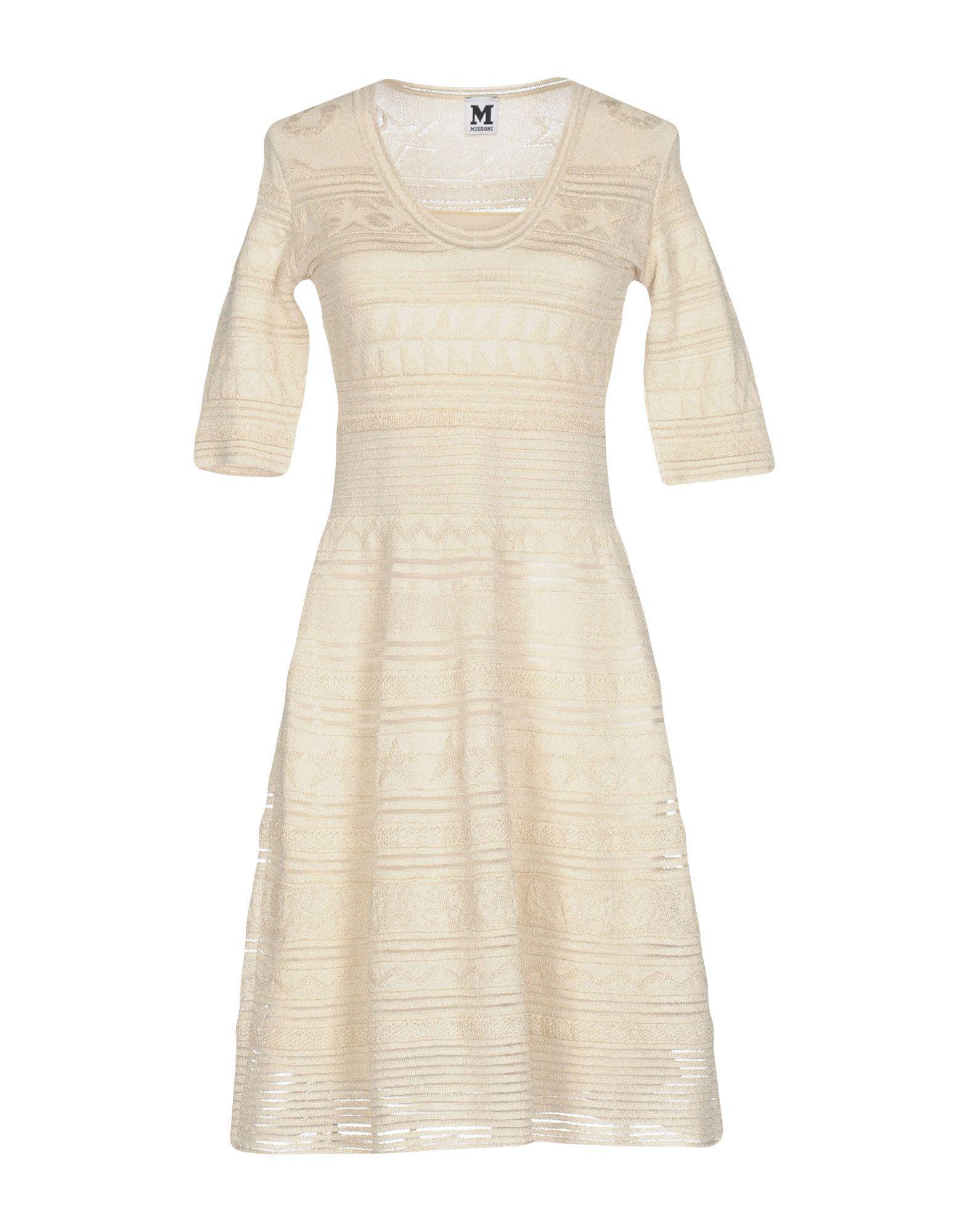 24031883307d Lyst - M Missoni Short Dress in White