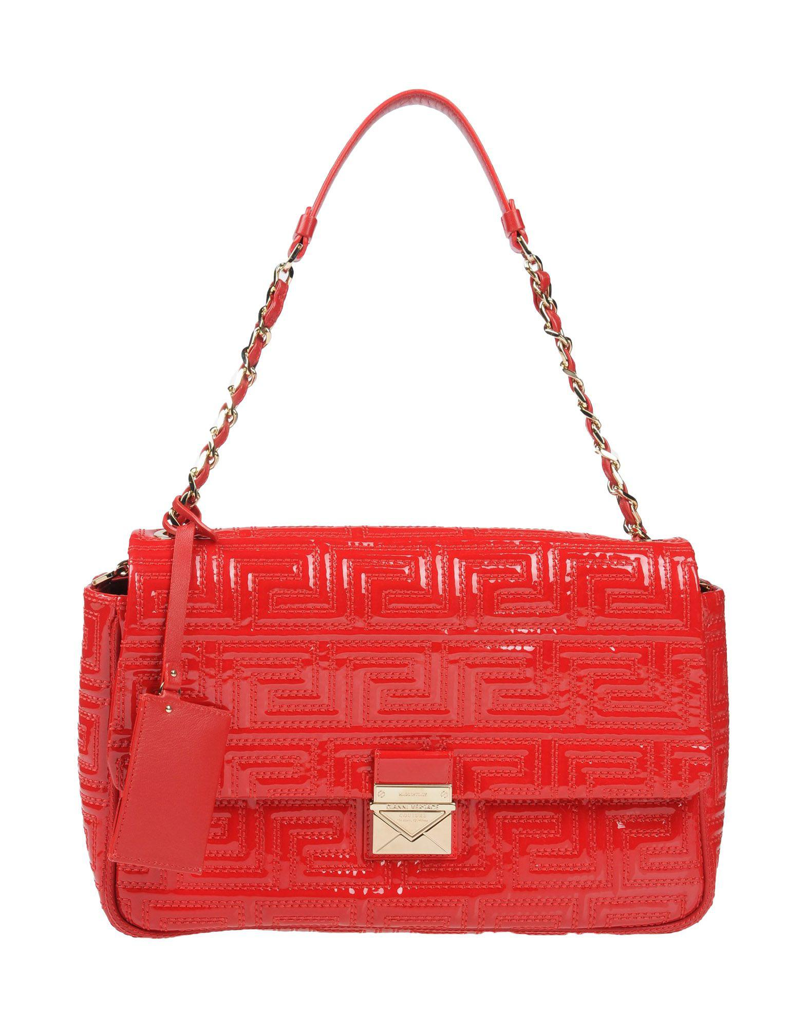 5561a79ad0 Gianni Versace Couture Handbags in Red - Lyst
