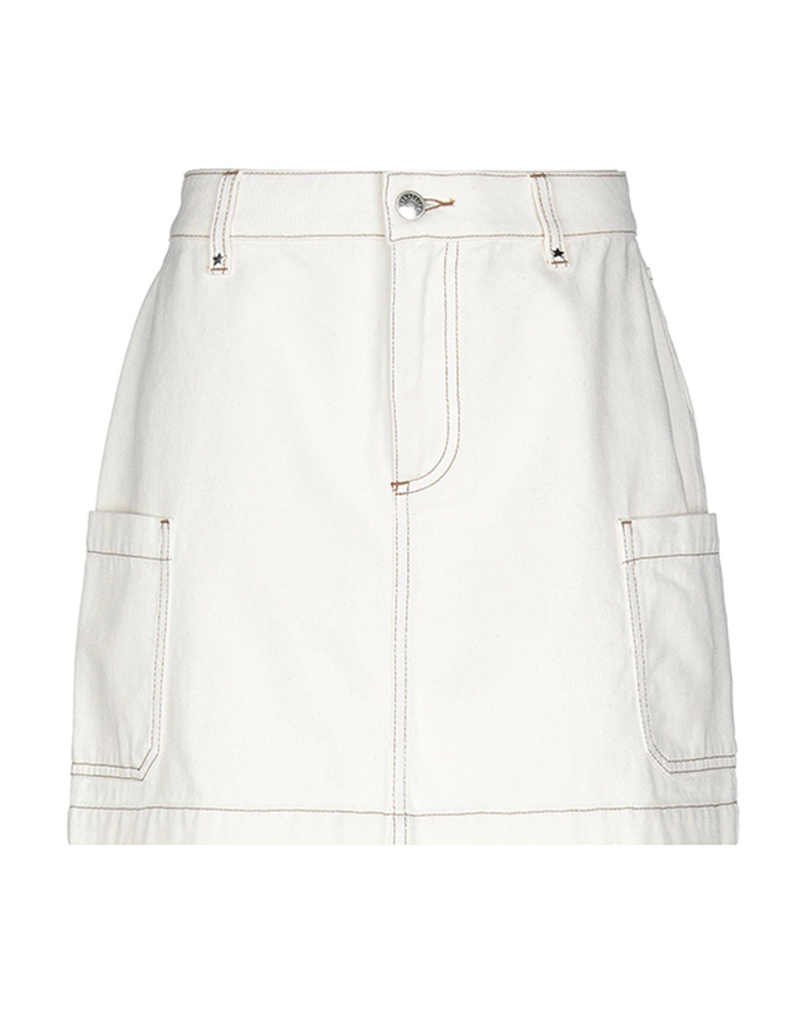 cfd29c23c9 AlexaChung - White Patch Pocket Denim Skirt - Lyst. View fullscreen