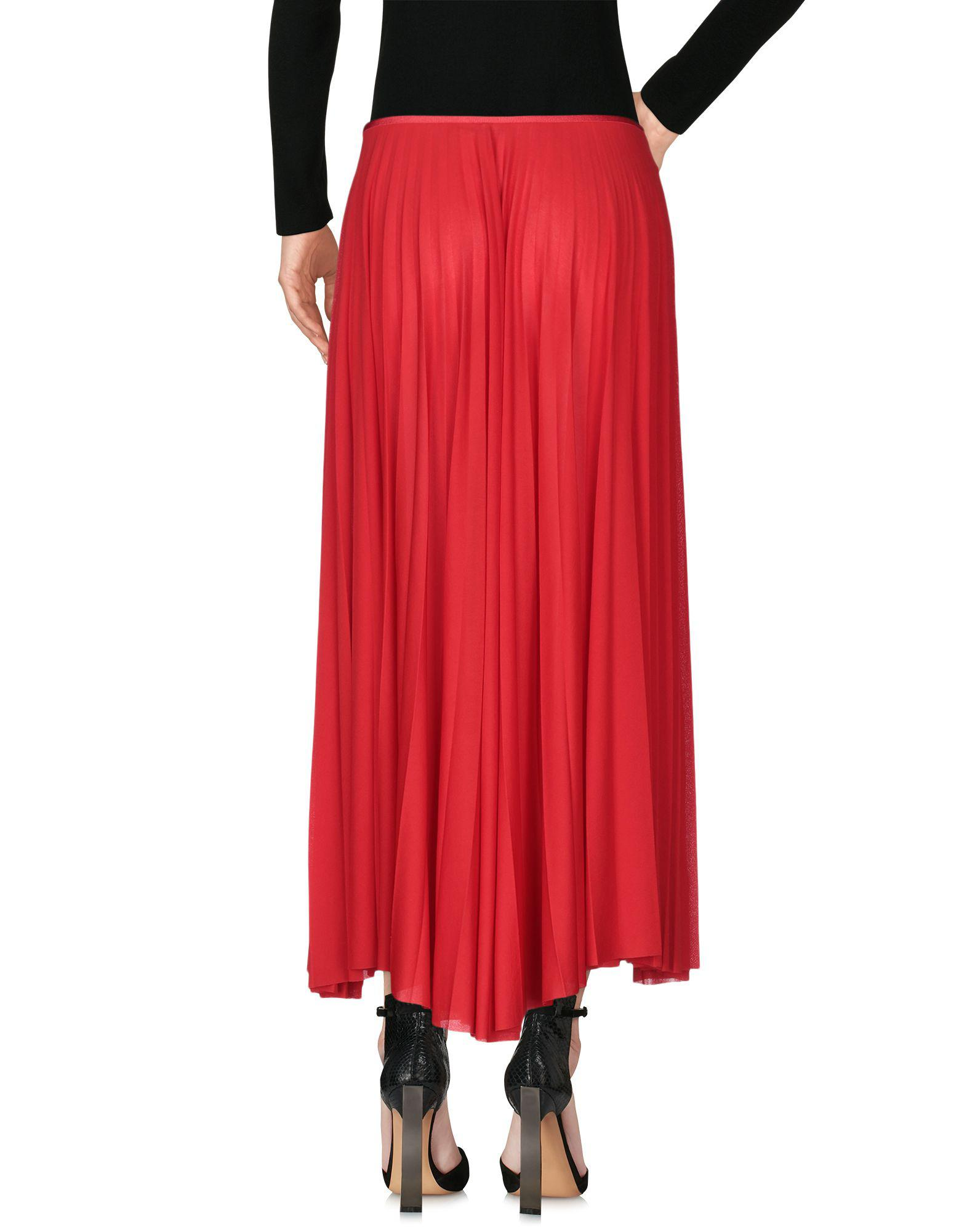 3a703fc20bc0 Lyst - Céline 3 4 Length Skirt in Red