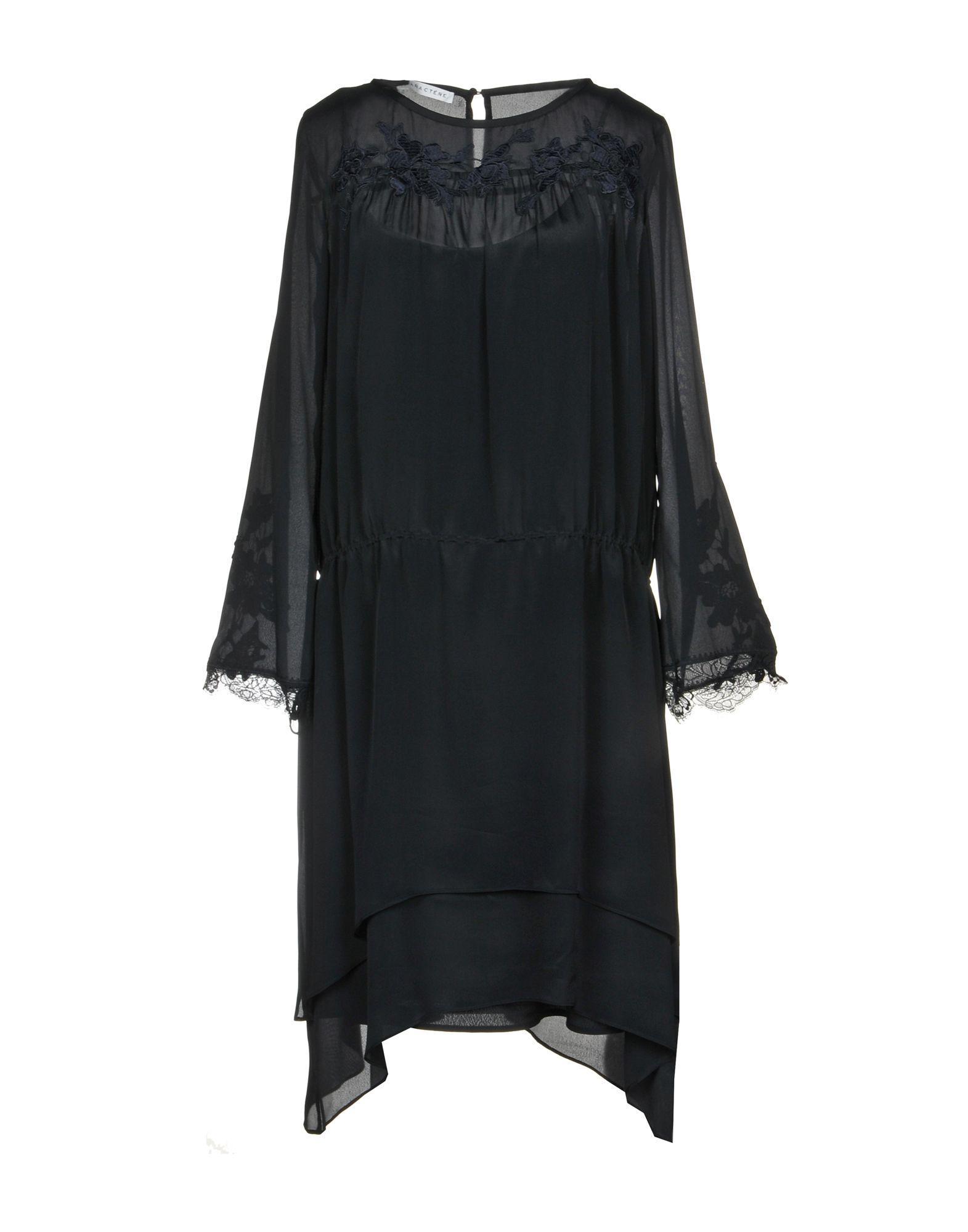 Black dress with frill Caractere Cv8OSZx0xQ