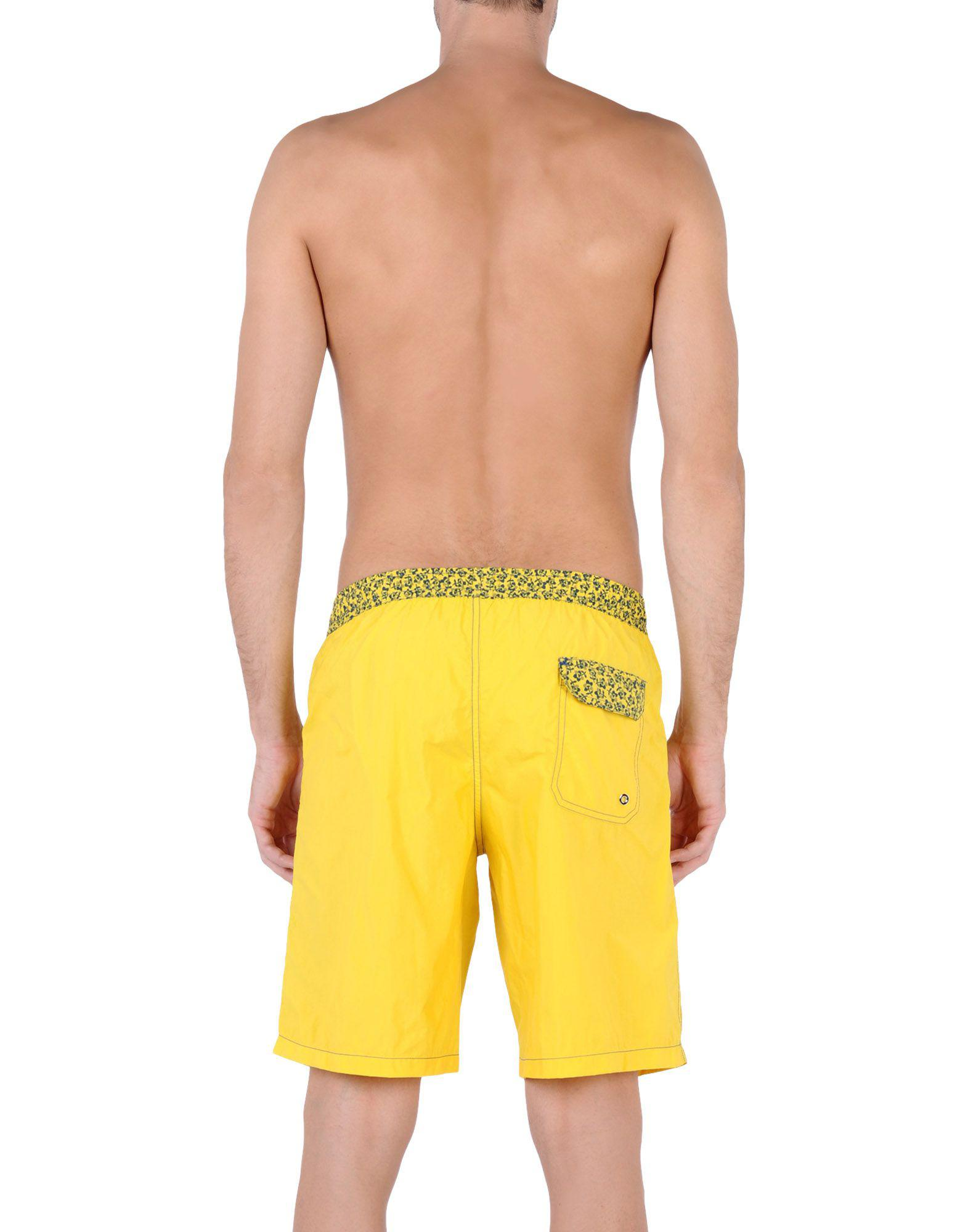 246e92ee88 Gianfranco Ferré Swimming Trunks in Yellow for Men - Lyst