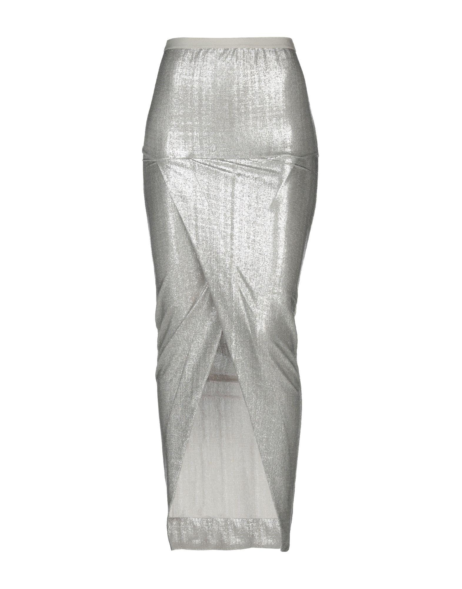 af115c3cb0d Rick Owens Lilies Long Skirt in Gray - Lyst