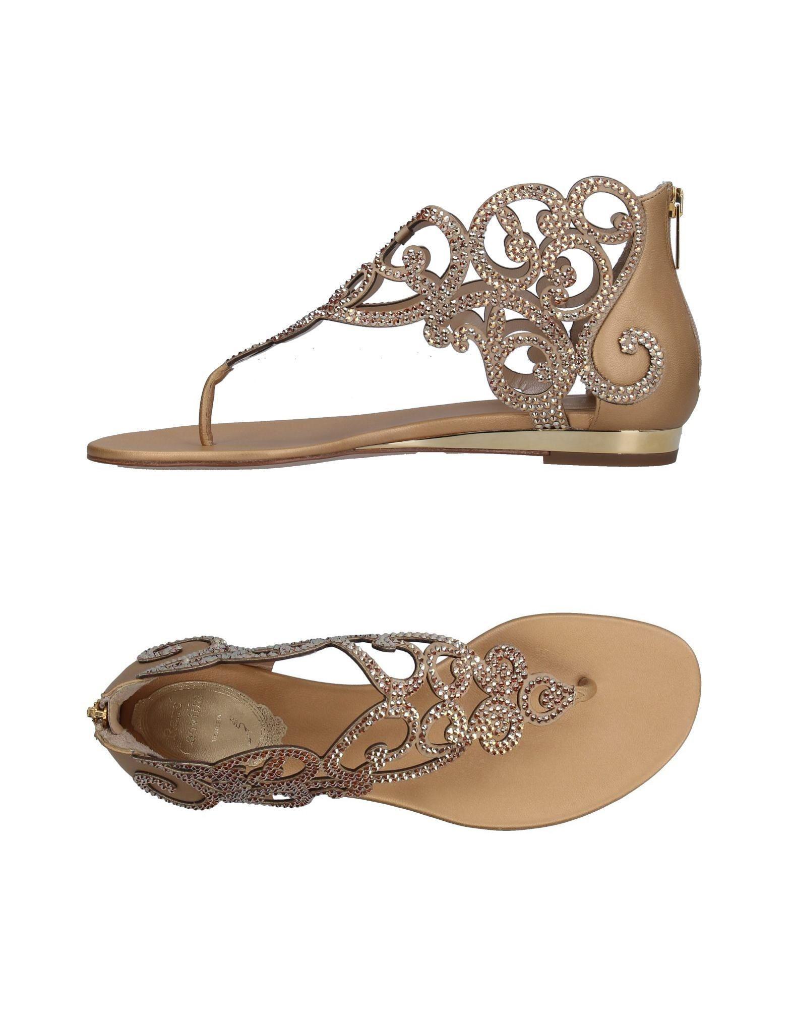 cf18f28d0a7 Lyst - Rene Caovilla Toe Strap Sandal in Natural