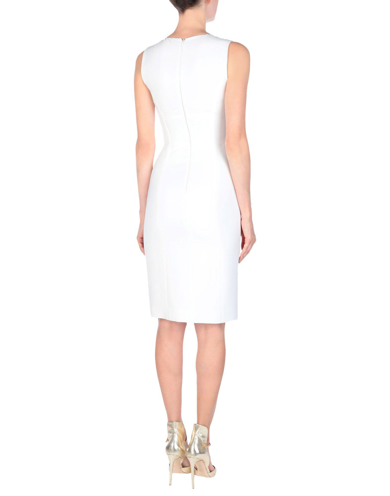 f7ad038f4d8 Lyst - Versace Knee-length Dress in White