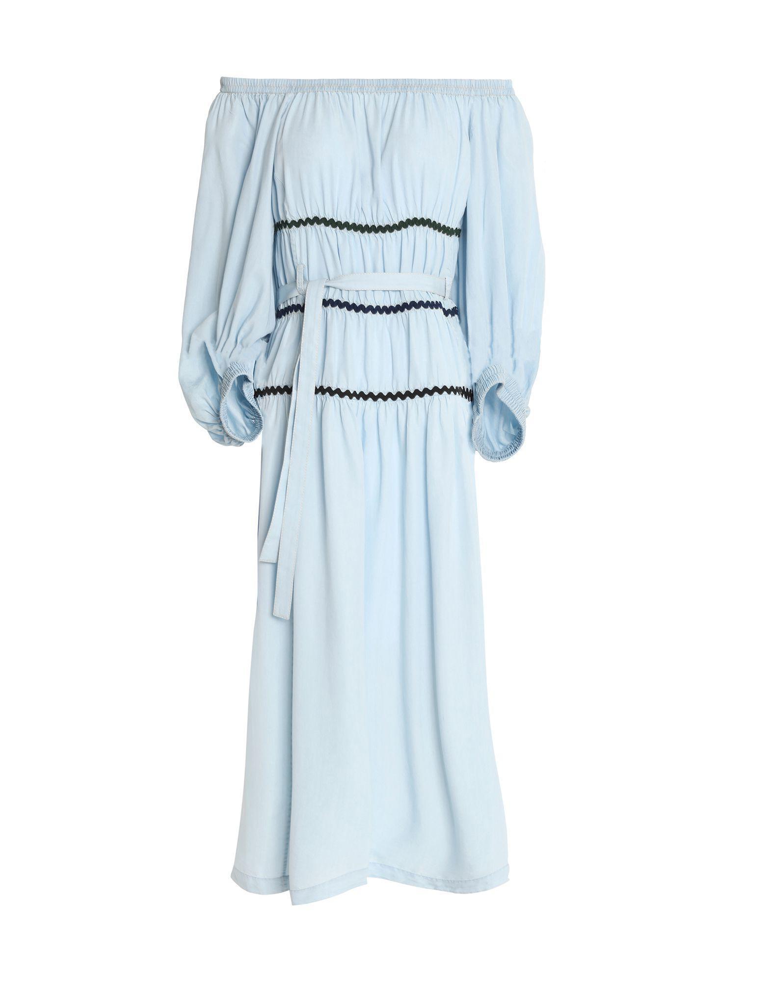 2e99000687cee5 Lyst - Sonia Rykiel Knee-length Dress in Blue - Save 41.96078431372549%