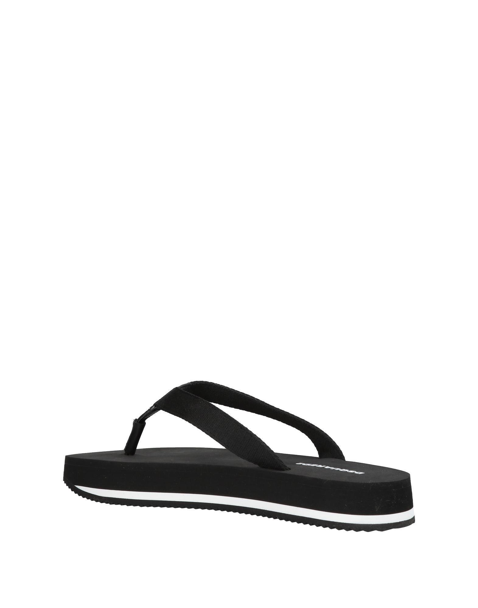 a0246f746 Lyst - DSquared² Toe Strap Sandal in Black for Men - Save 20%