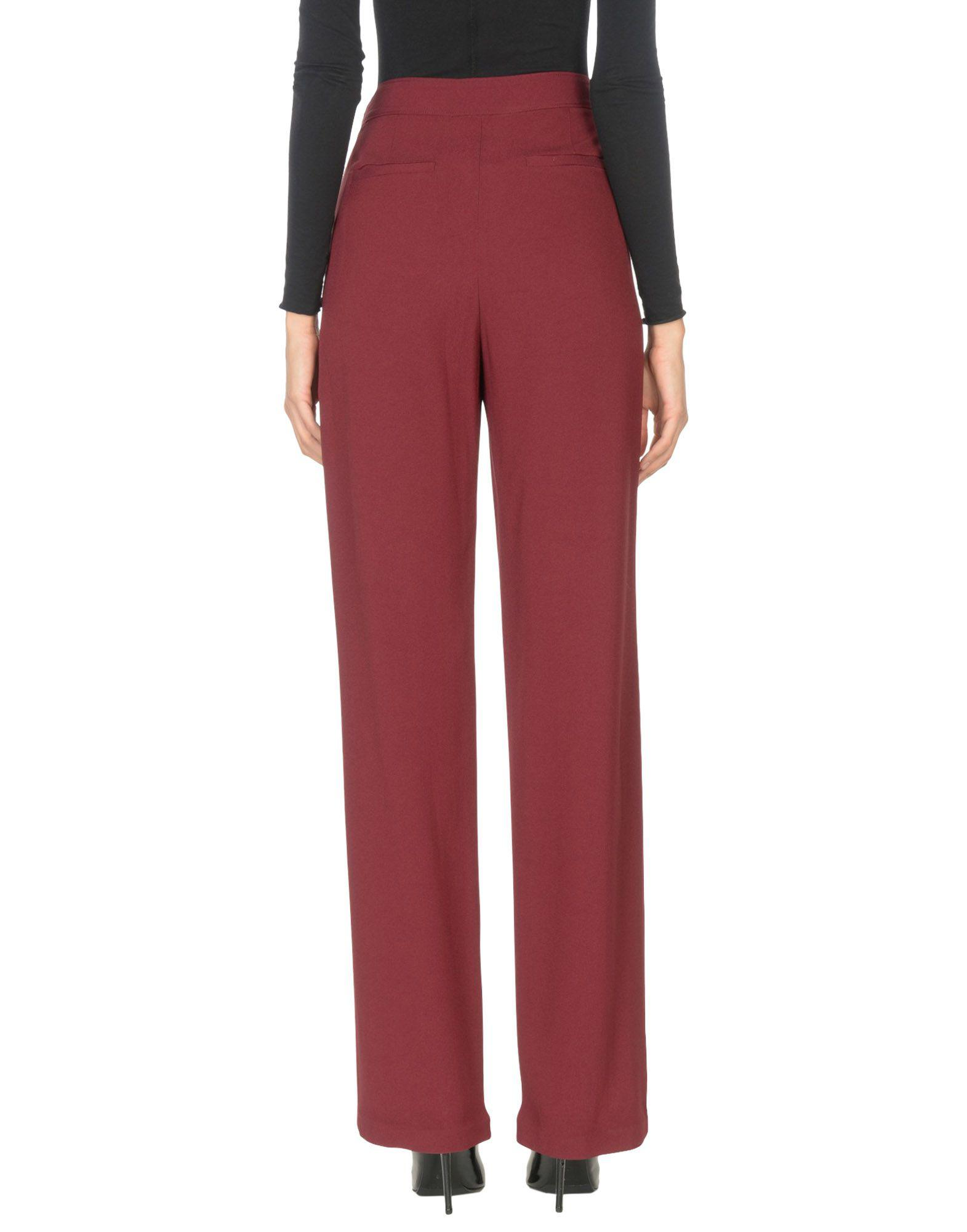 71800be62 Lyst - Tory Burch Casual Trouser in Red