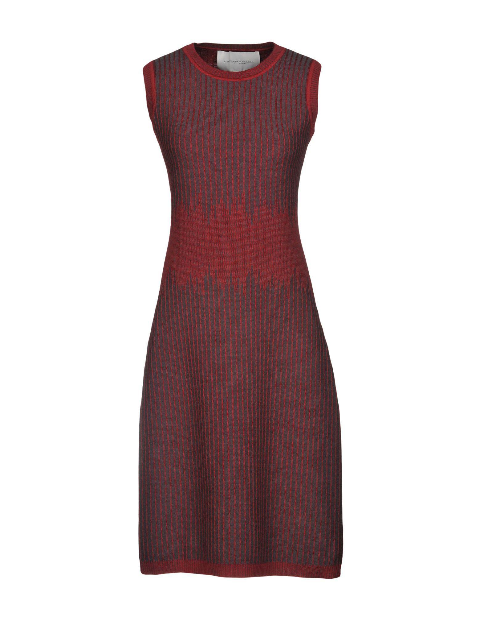 5d244d8747d Lyst - Carolina Herrera Knee-length Dress in Red