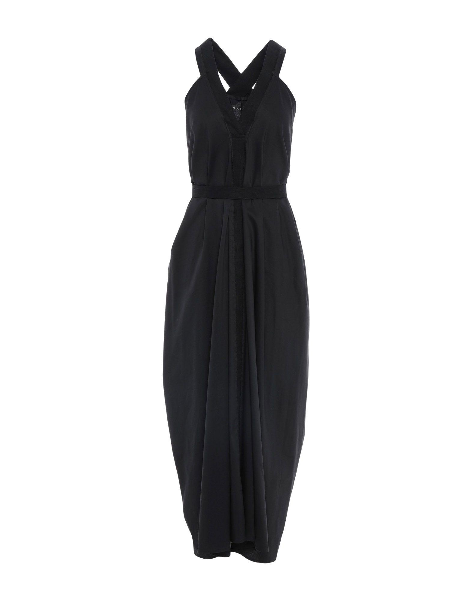 In Black Dress Malloni Long Lyst Hwq4FgYx