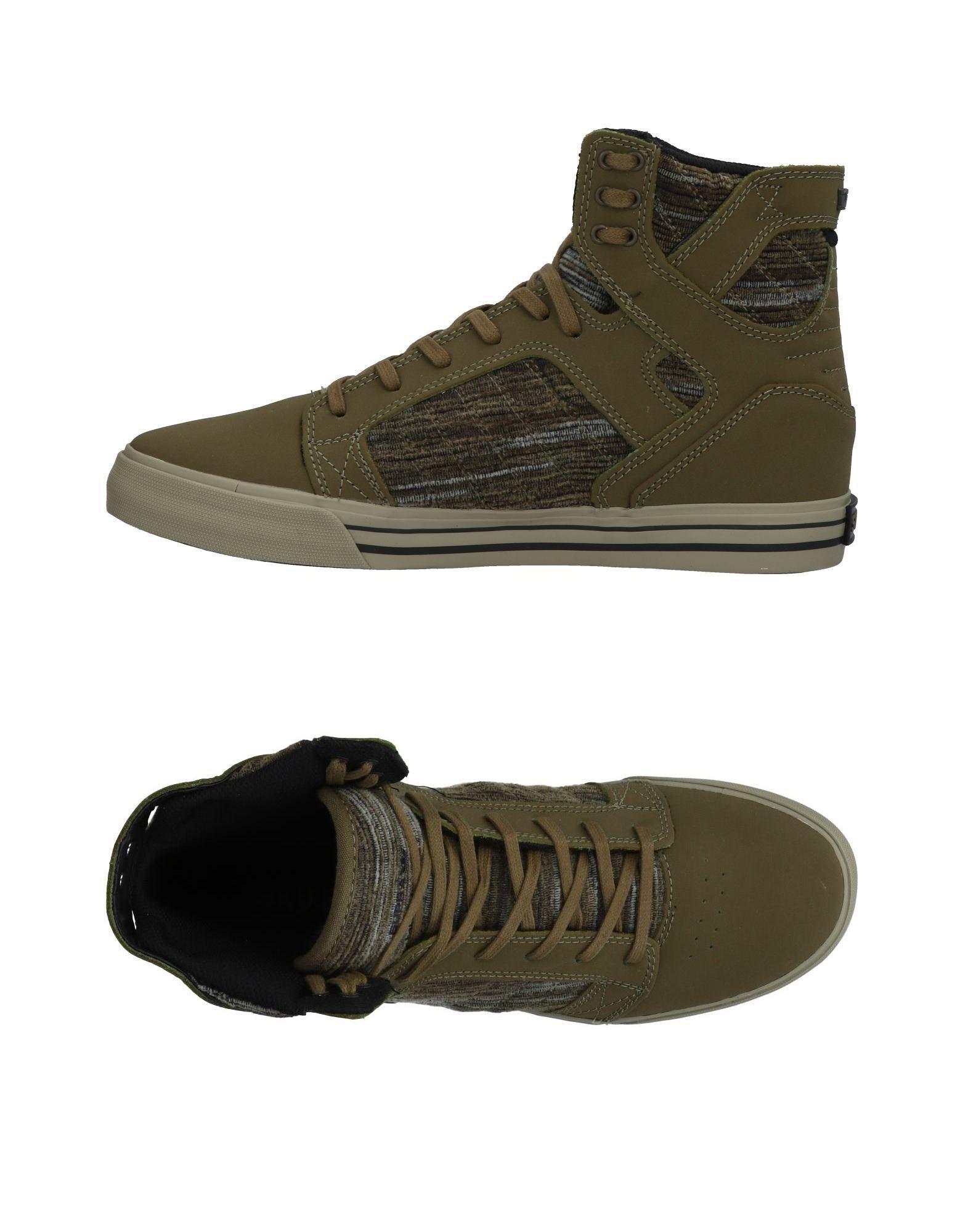 eca1b74f2e0 Lyst - Sneakers abotinadas Supra de hombre de color Verde