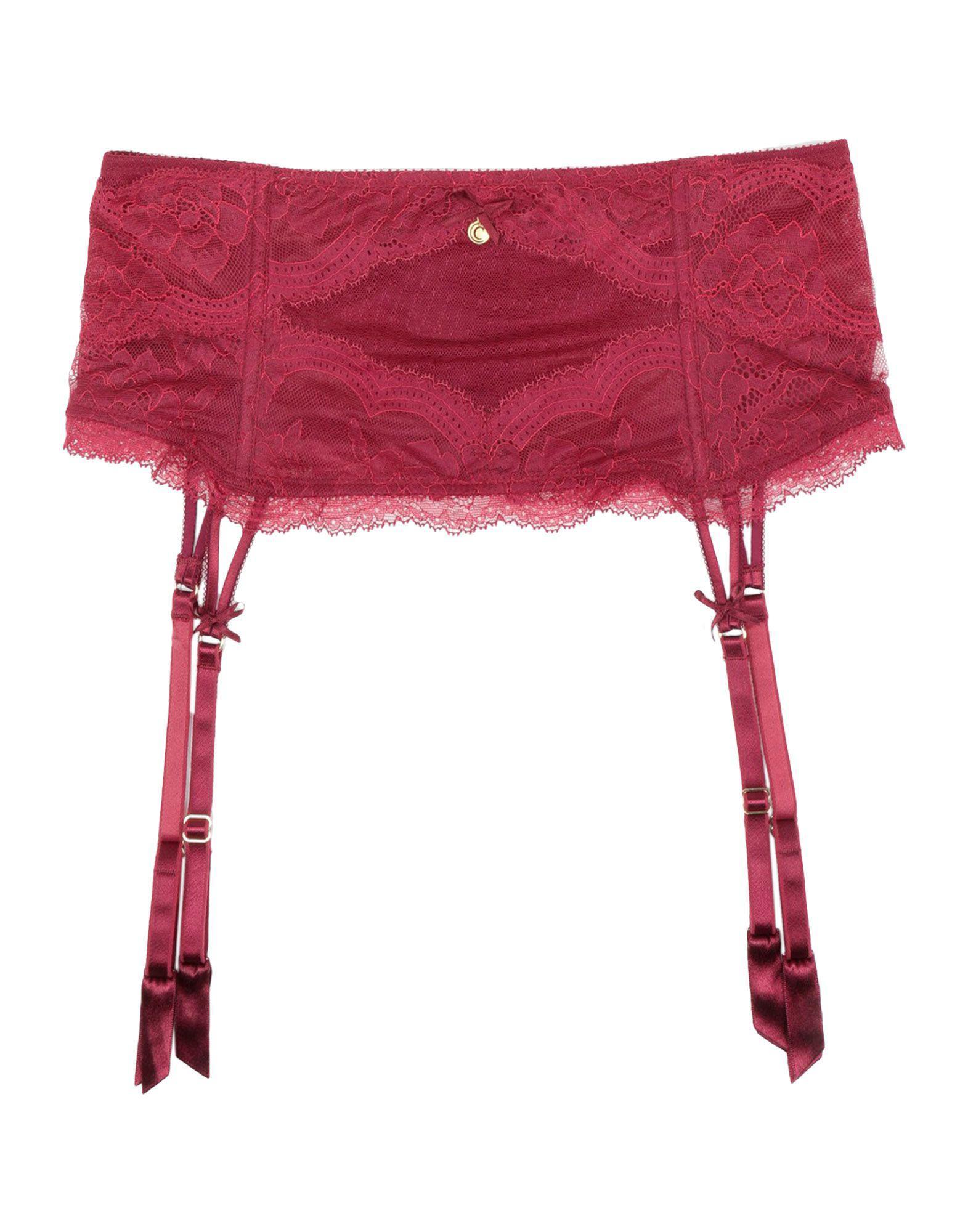 6f039465c59 Lyst - Chantelle Garter Belt in Red