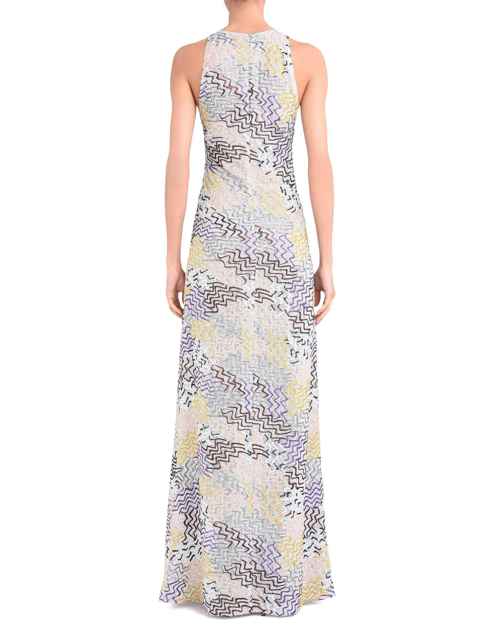 cba28443e14 Missoni - Gray Long Dress - Lyst. View fullscreen