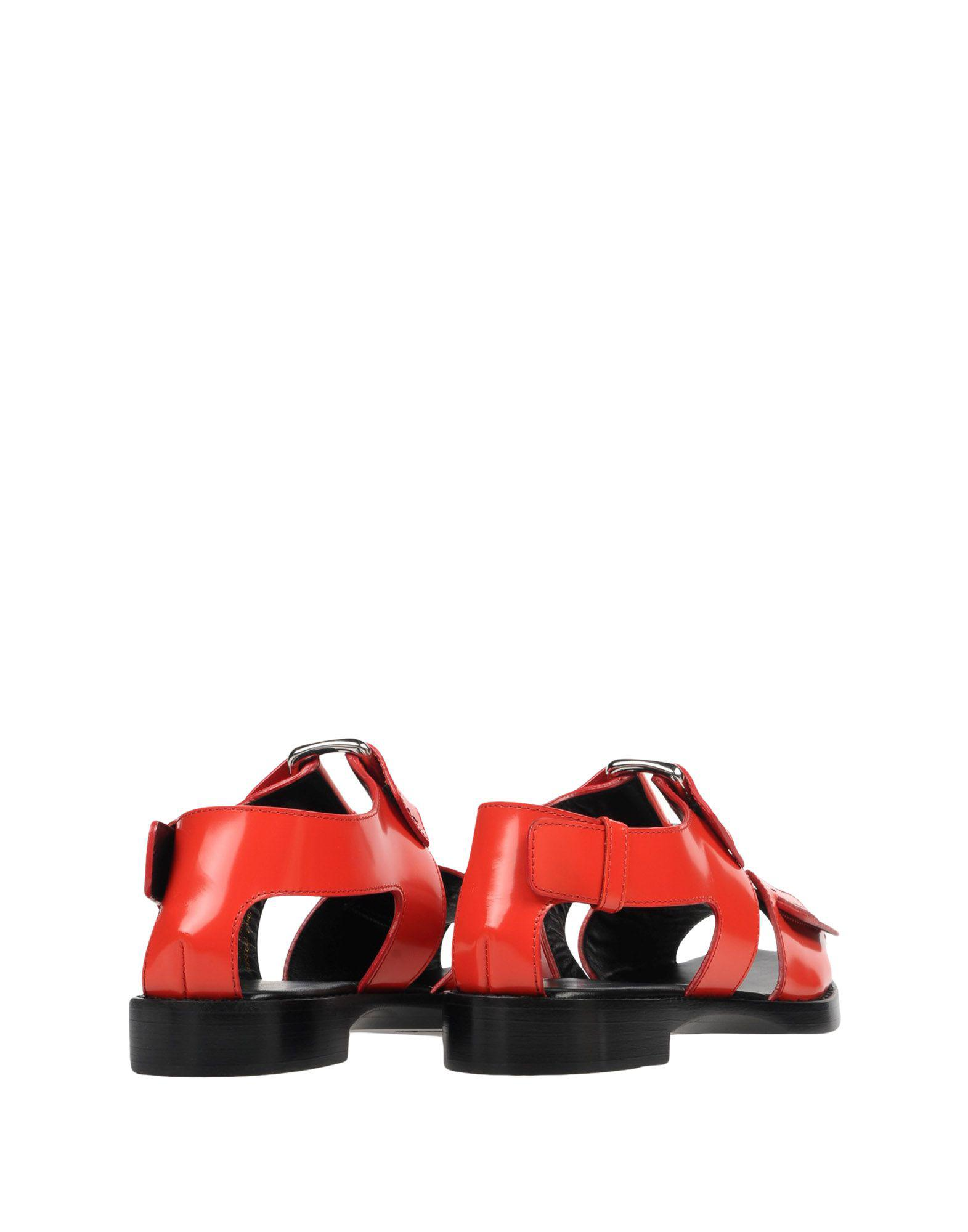 6aafc794ae0c 3.1 Phillip Lim - Red Addis Flat Sandal - Lyst. View fullscreen