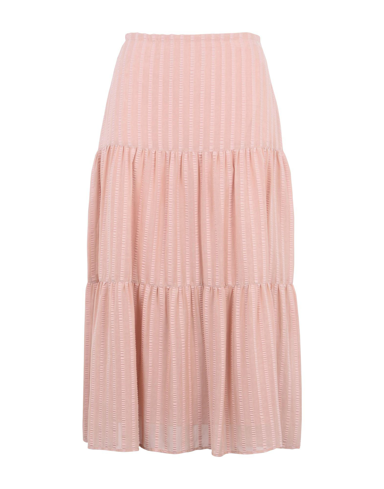 3bd3c537db Falda a media pierna See By Chloé de color Rosa - Lyst