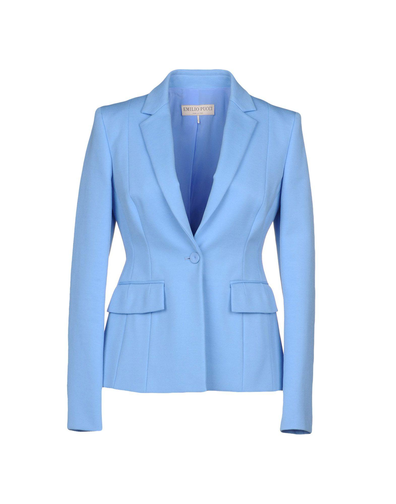 3fc5fb666b55 Emilio Pucci - Blue Blazer - Lyst. View fullscreen