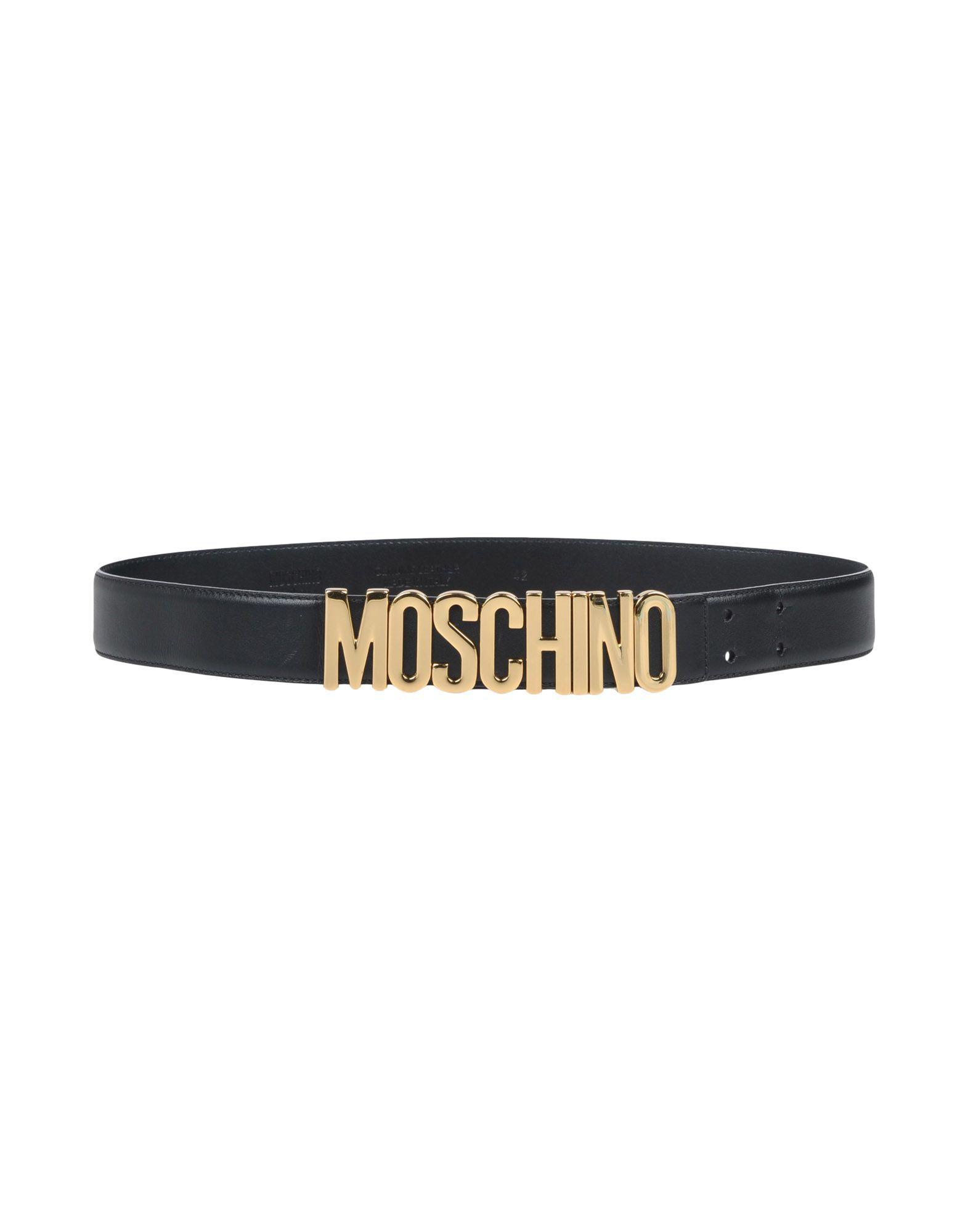 Lyst - Ceinture Moschino en coloris Noir e11bdb065a0